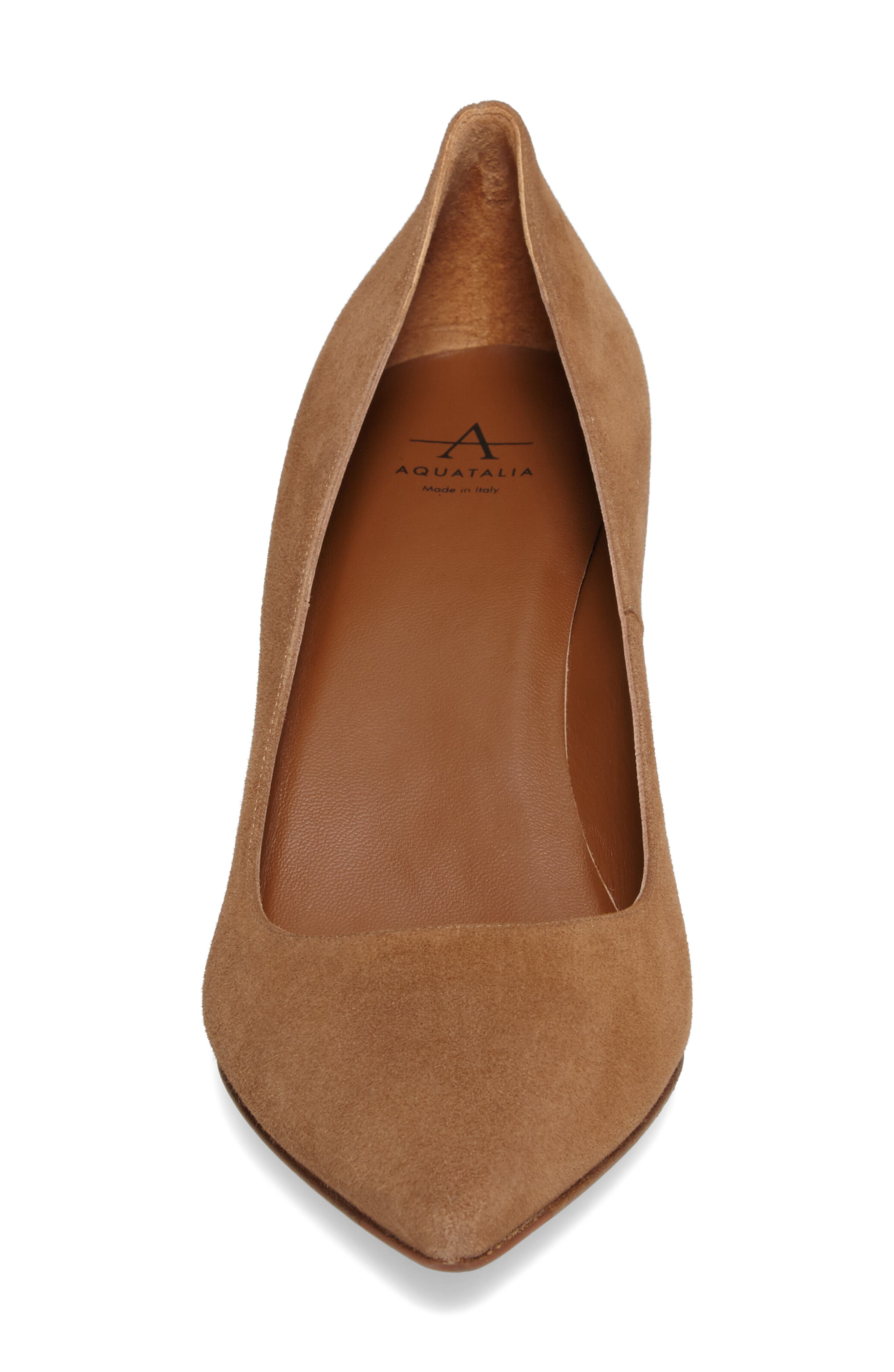 Michaela Weatherproof Pump,                             Alternate thumbnail 4, color,                             Sand Suede