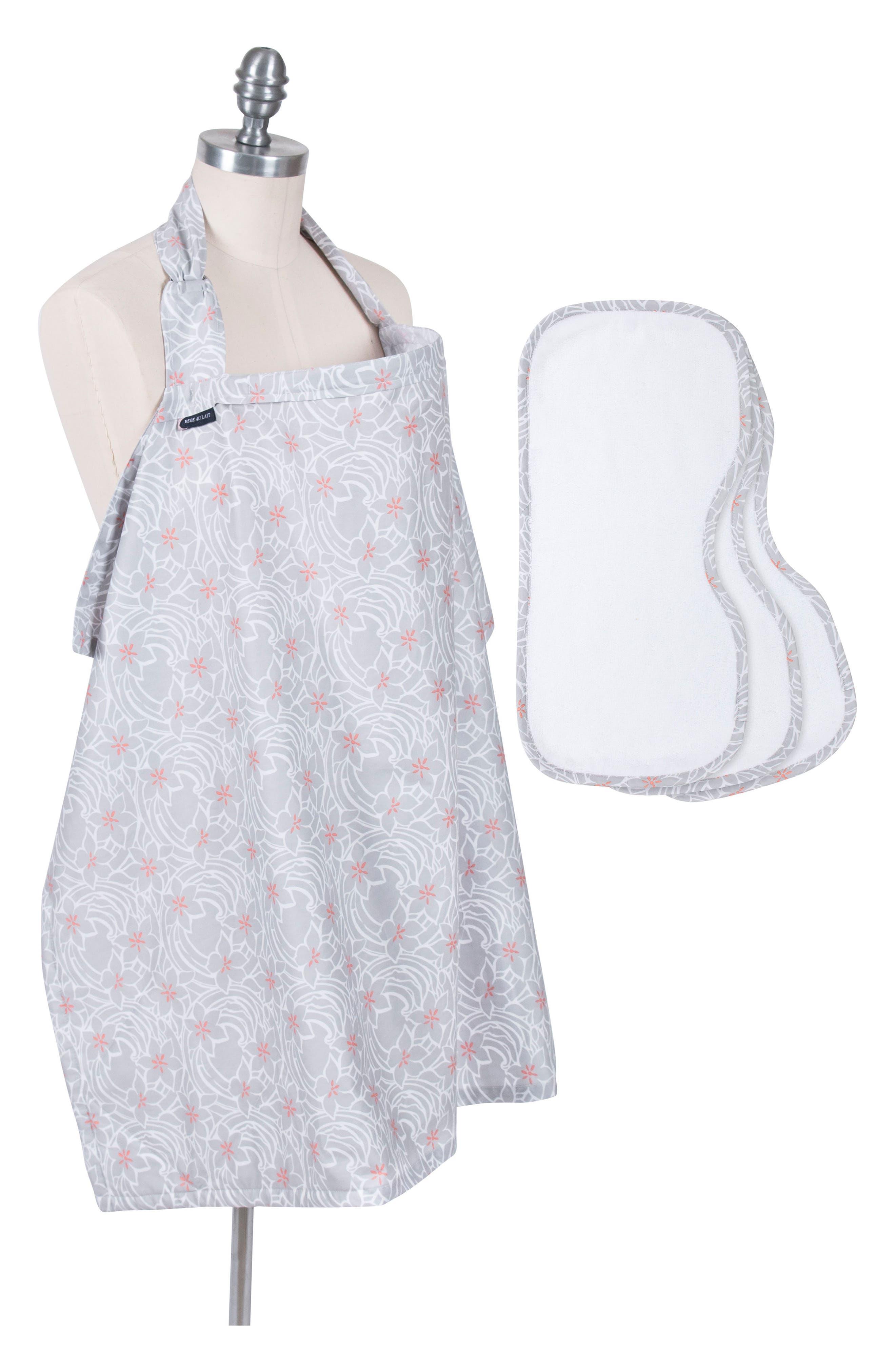Nursing Cover & Burp Cloth Set,                         Main,                         color, Monet
