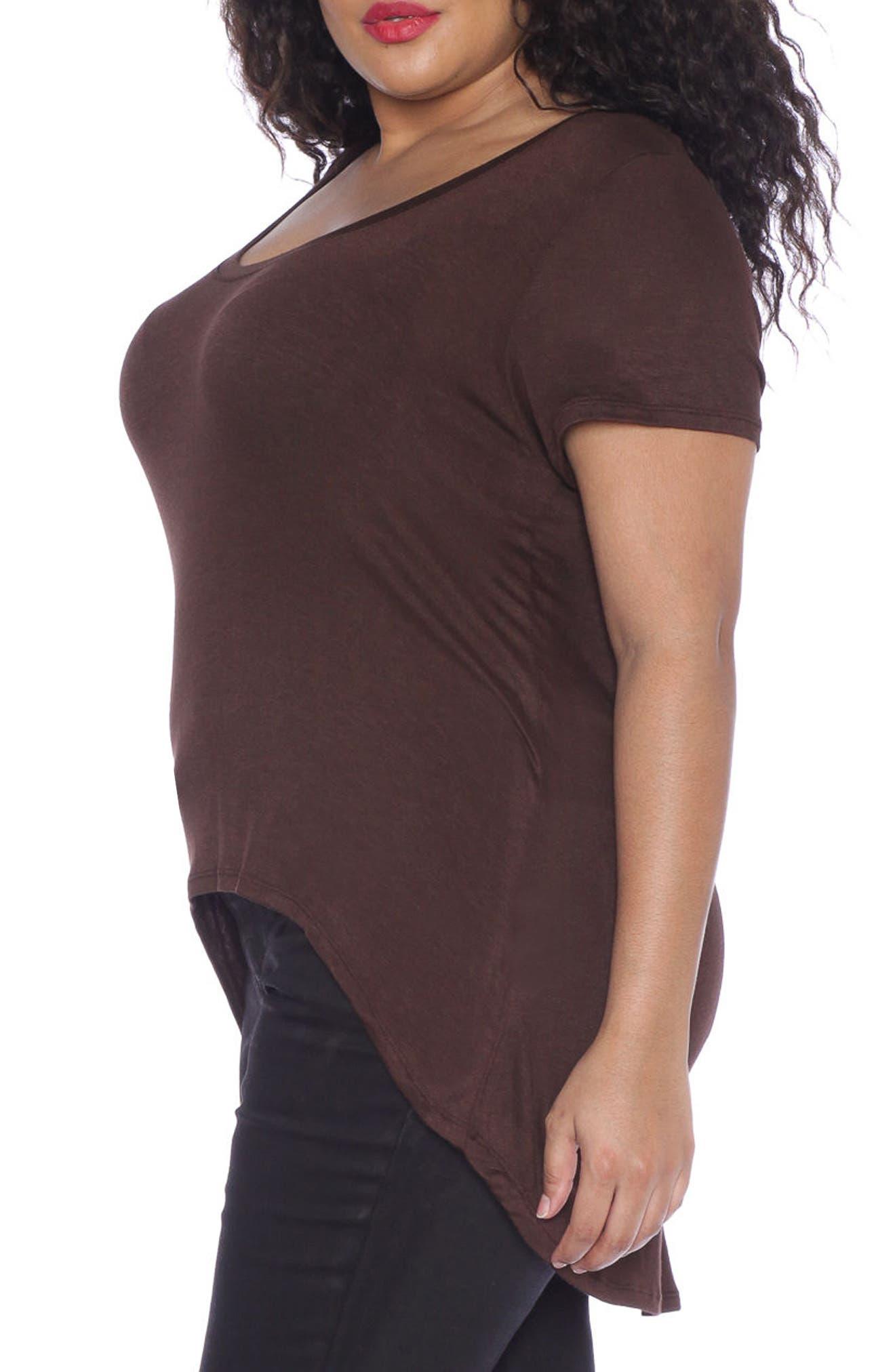 Alternate Image 3  - SLINK Jeans High/Low Scoop Neck Tee (Plus Size)
