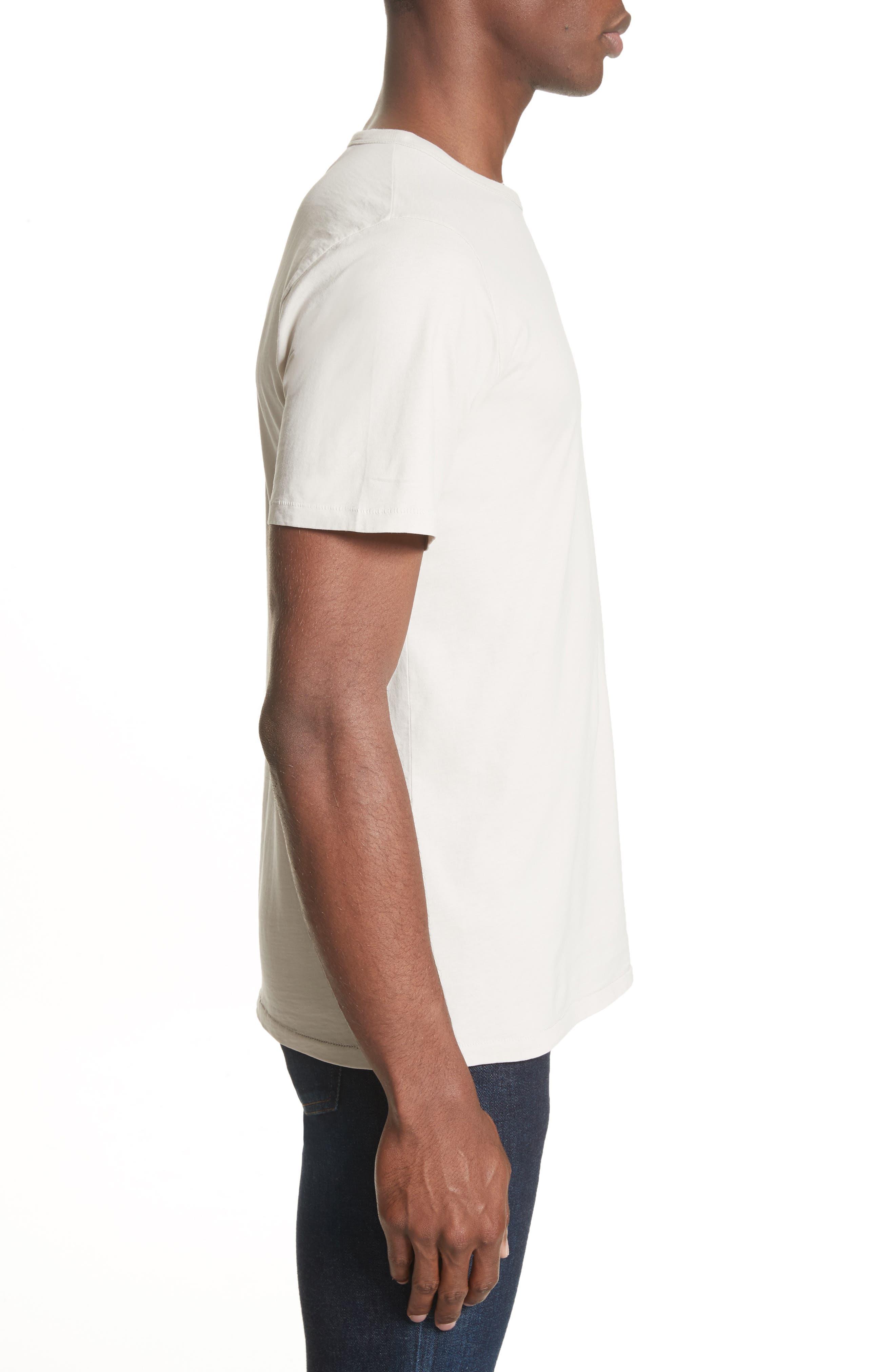 Brandon Pima Cotton T-Shirt,                             Alternate thumbnail 3, color,                             Dune
