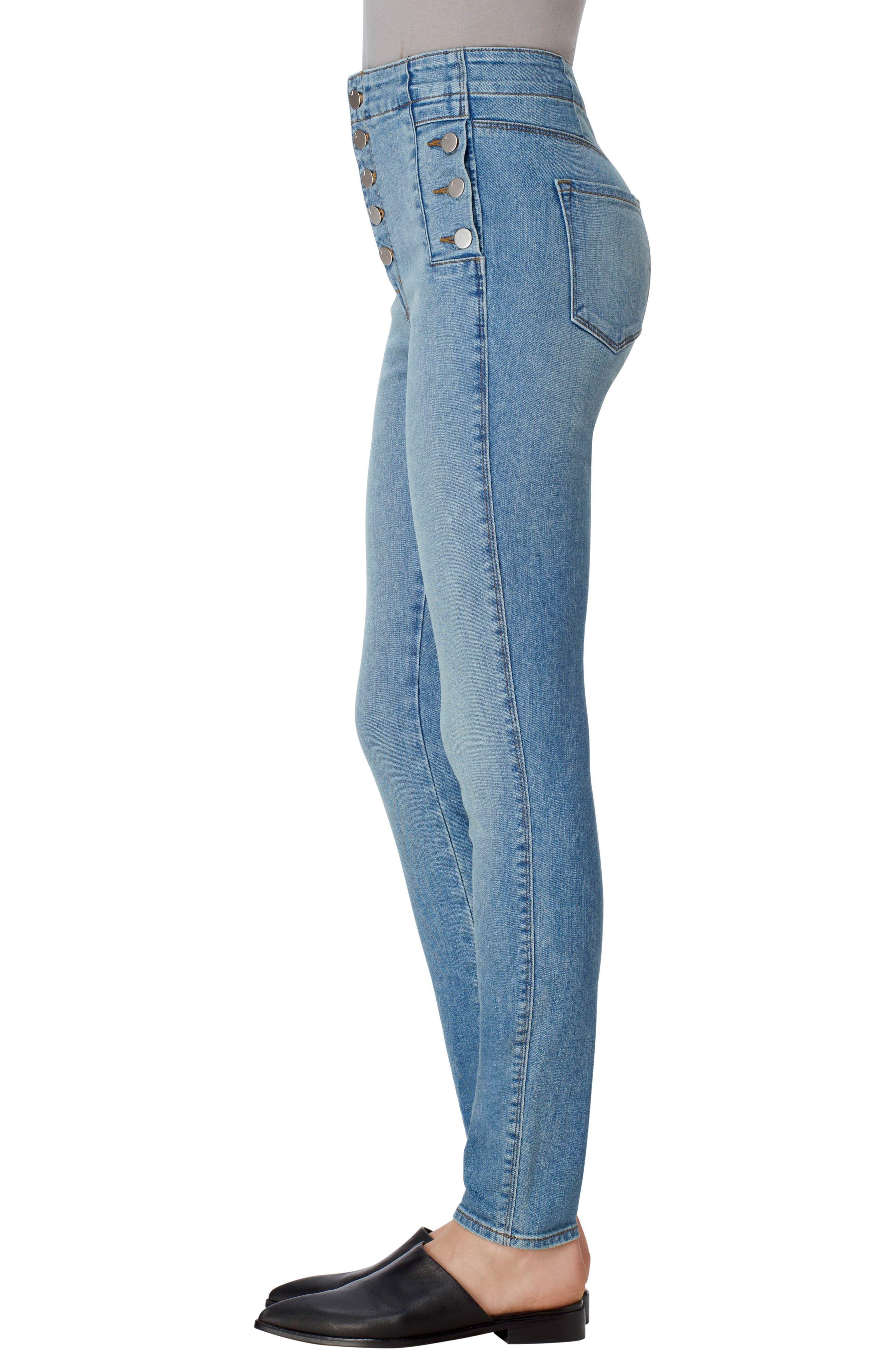 Alternate Image 3  - J Brand Natasha Sky High High Waist Skinny Jeans (Nordstrom Exclusive)