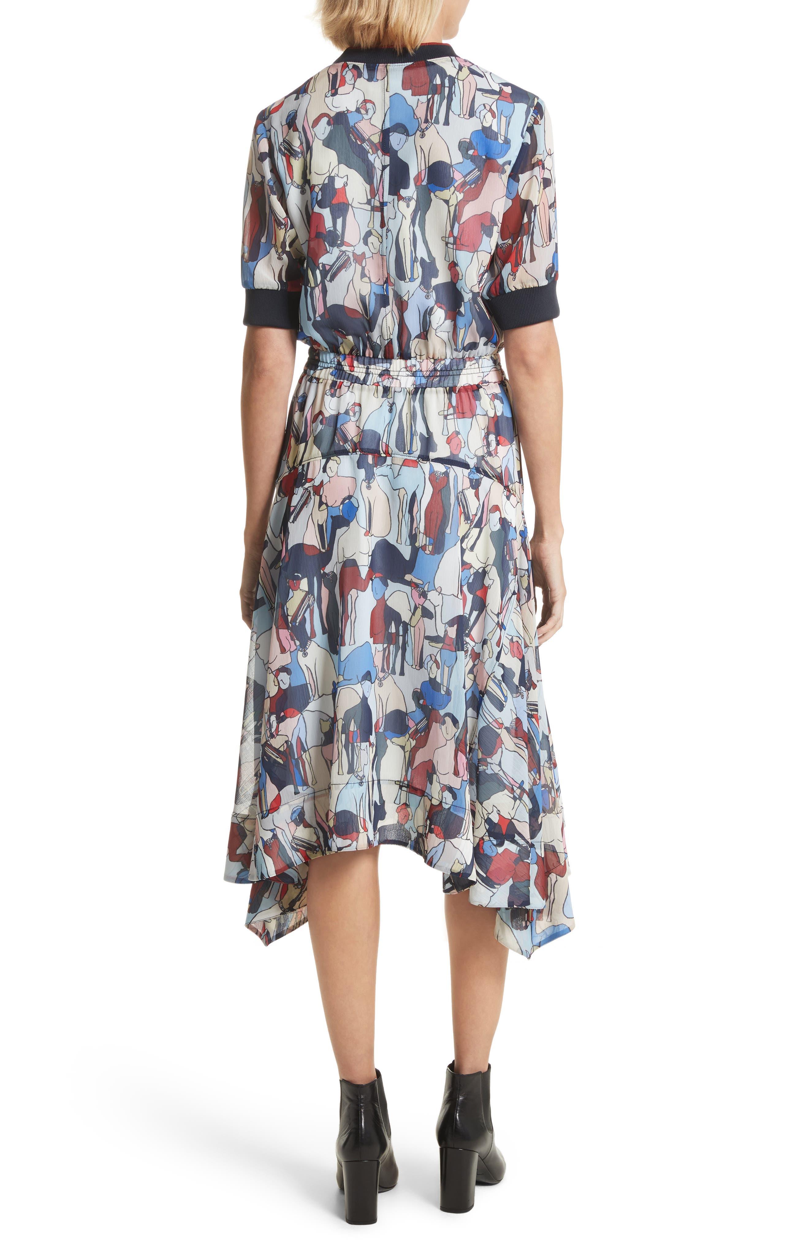 Alternate Image 2  - GREY Jason Wu Print Handkerchief Hem Dress