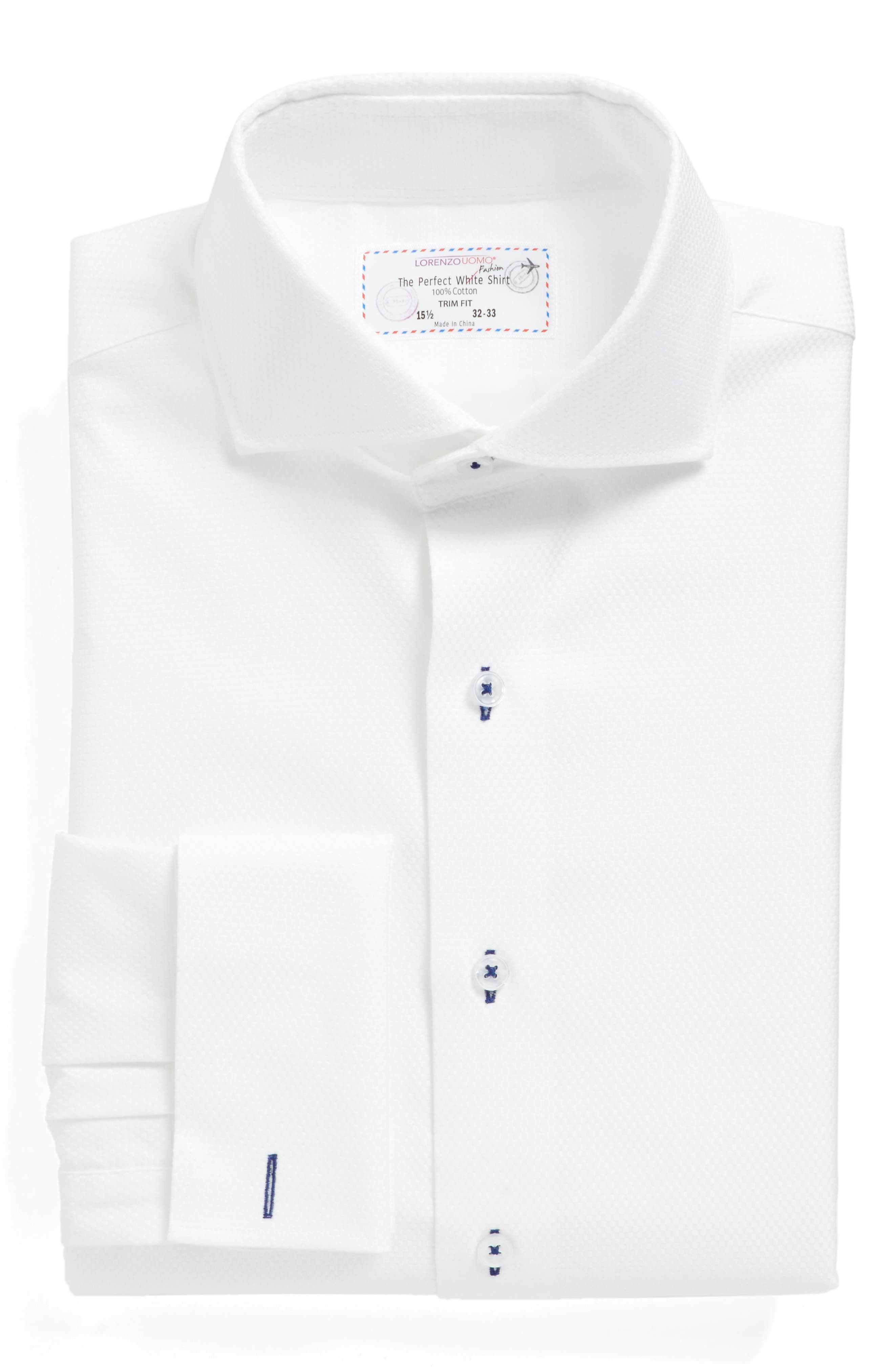 Main Image - Lorenzo Uomo Trim Fit Solid Dress Shirt