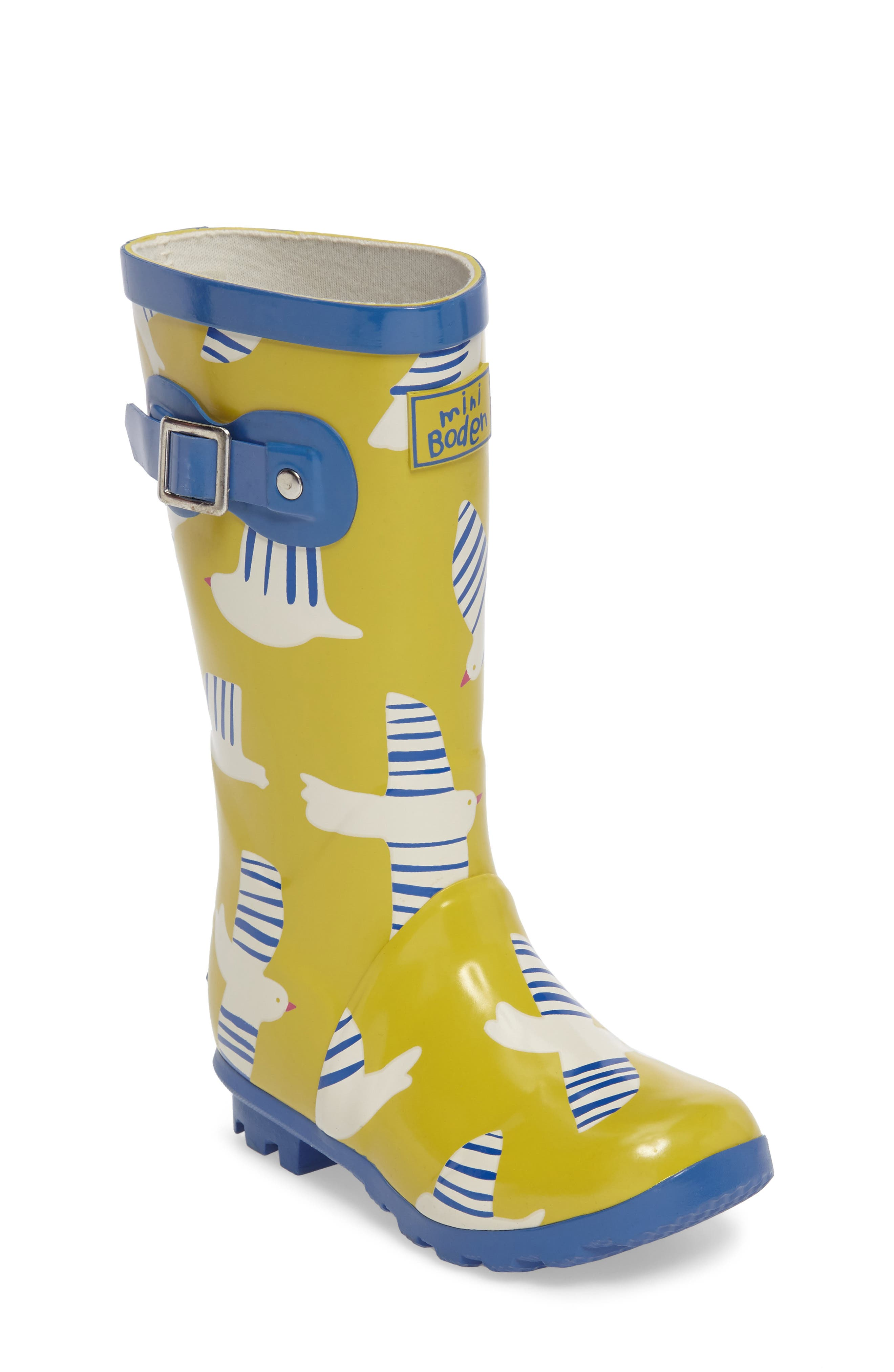 Alternate Image 1 Selected - Mini Boden Printed Wellies (Toddler & Little Kid)
