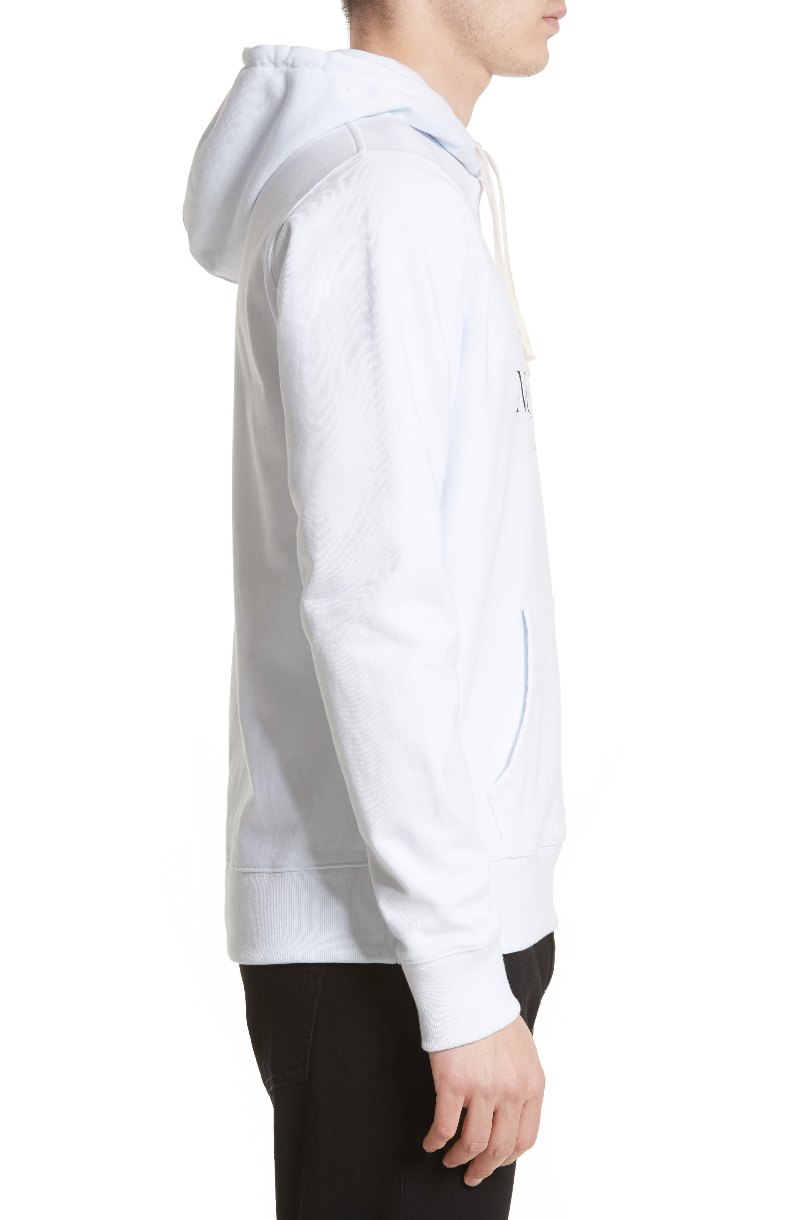 Ditch Miller Logo Hoodie,                             Alternate thumbnail 3, color,                             White