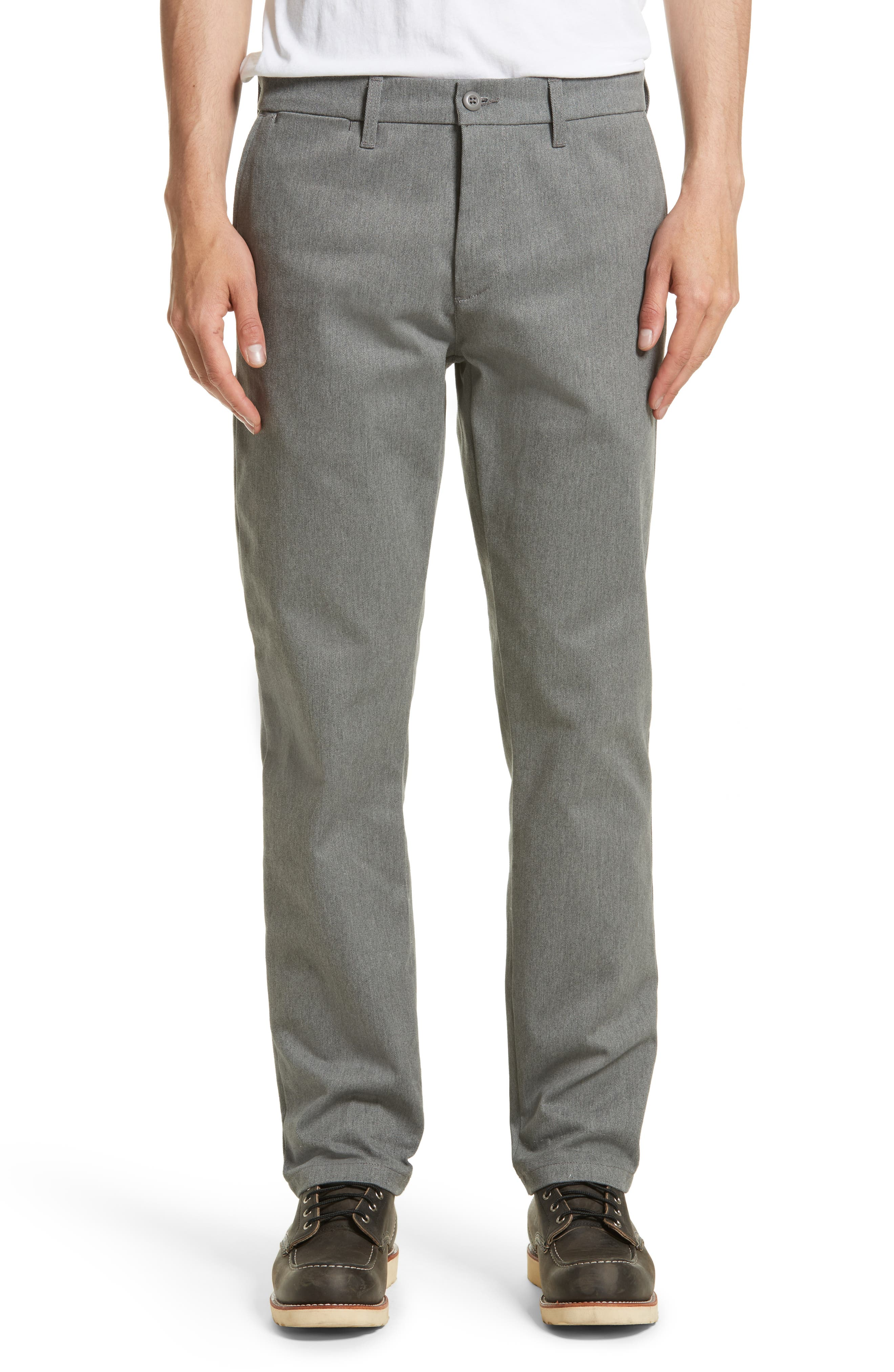 Twill Pants,                         Main,                         color, Grey Heather