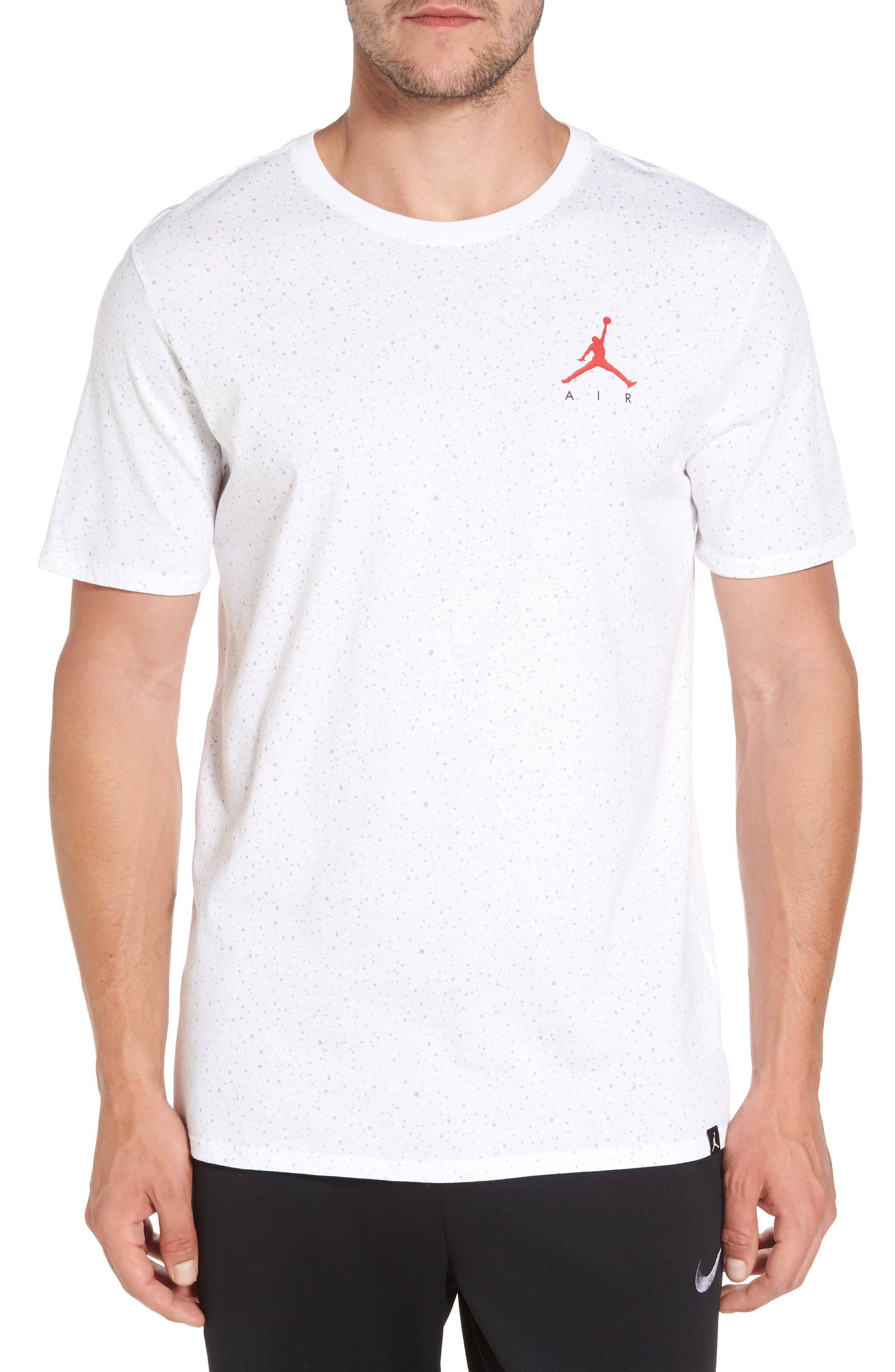 Sportswear Speckle T-Shirt,                         Main,                         color, White/ University Red