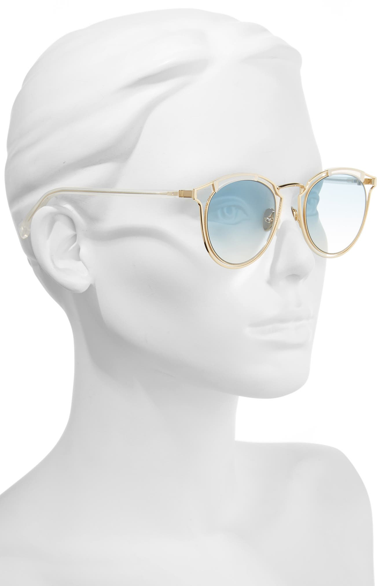Alternate Image 2  - HAZE Edge X 50mm Modified Round Sunglasses