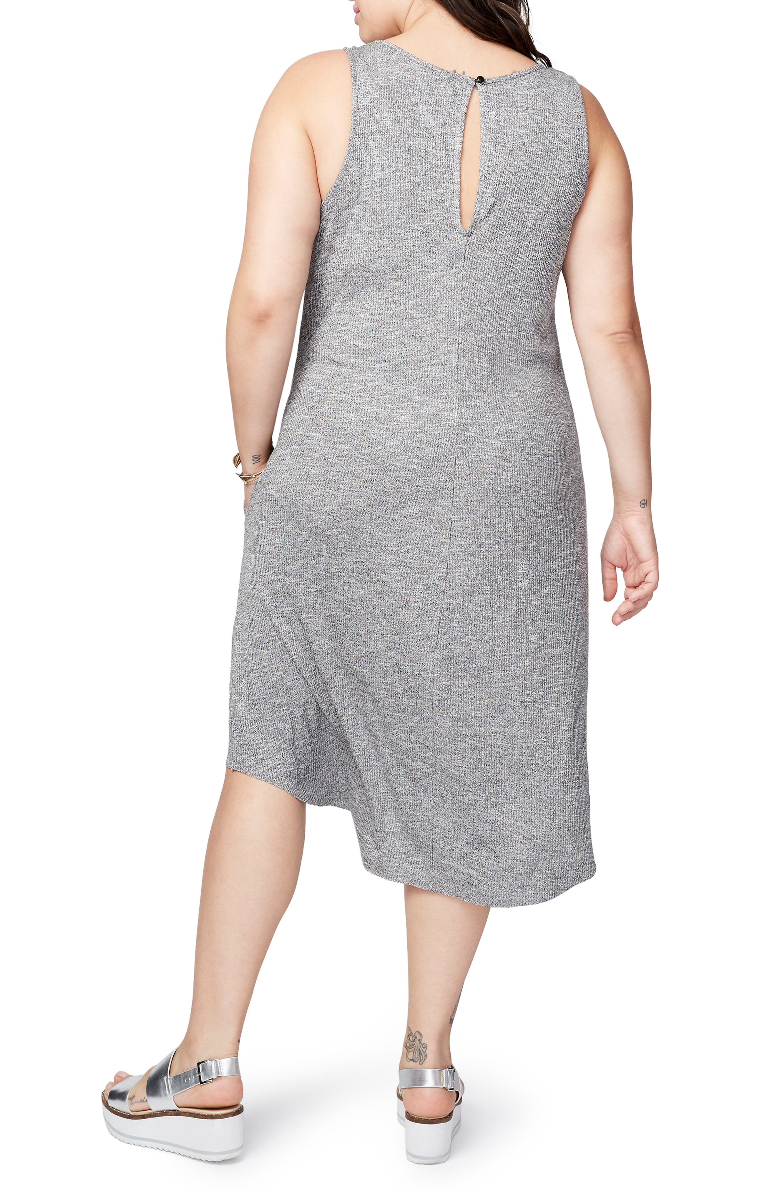 Alternate Image 2  - RACHEL Rachel Roy Rib Knit High/Low Dress (Plus Size)