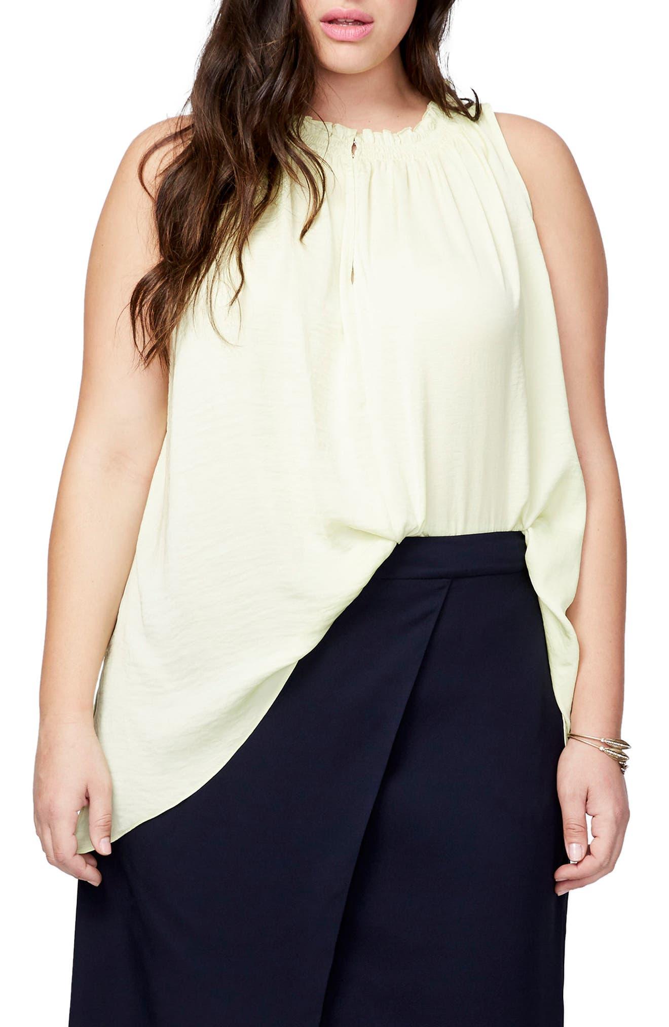 Melinda Asymmetrical Hem Top,                         Main,                         color, Starfruit