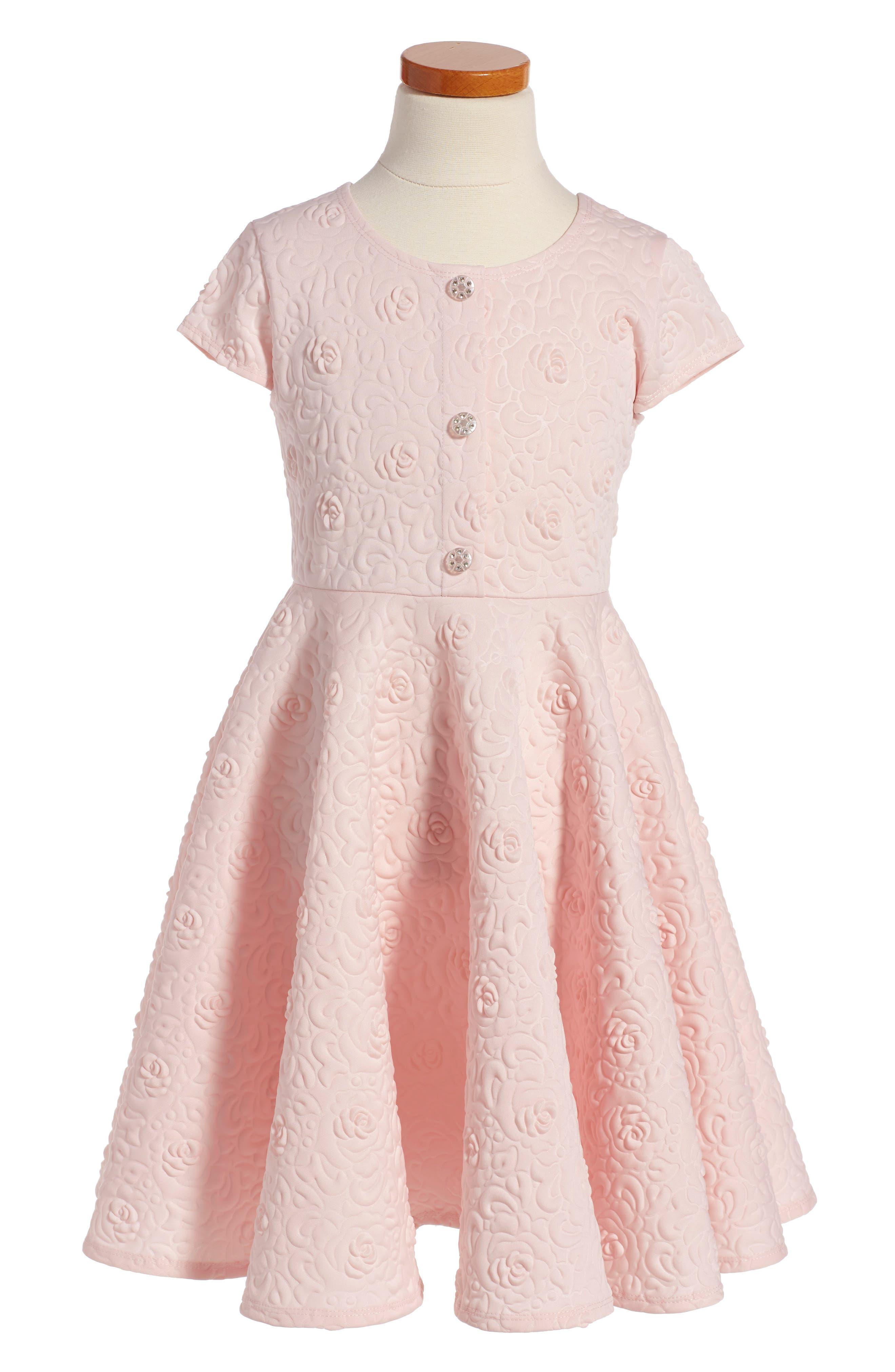 Frais Textured Scuba Dress (Toddler Girls, Little Girls & Big Girls)