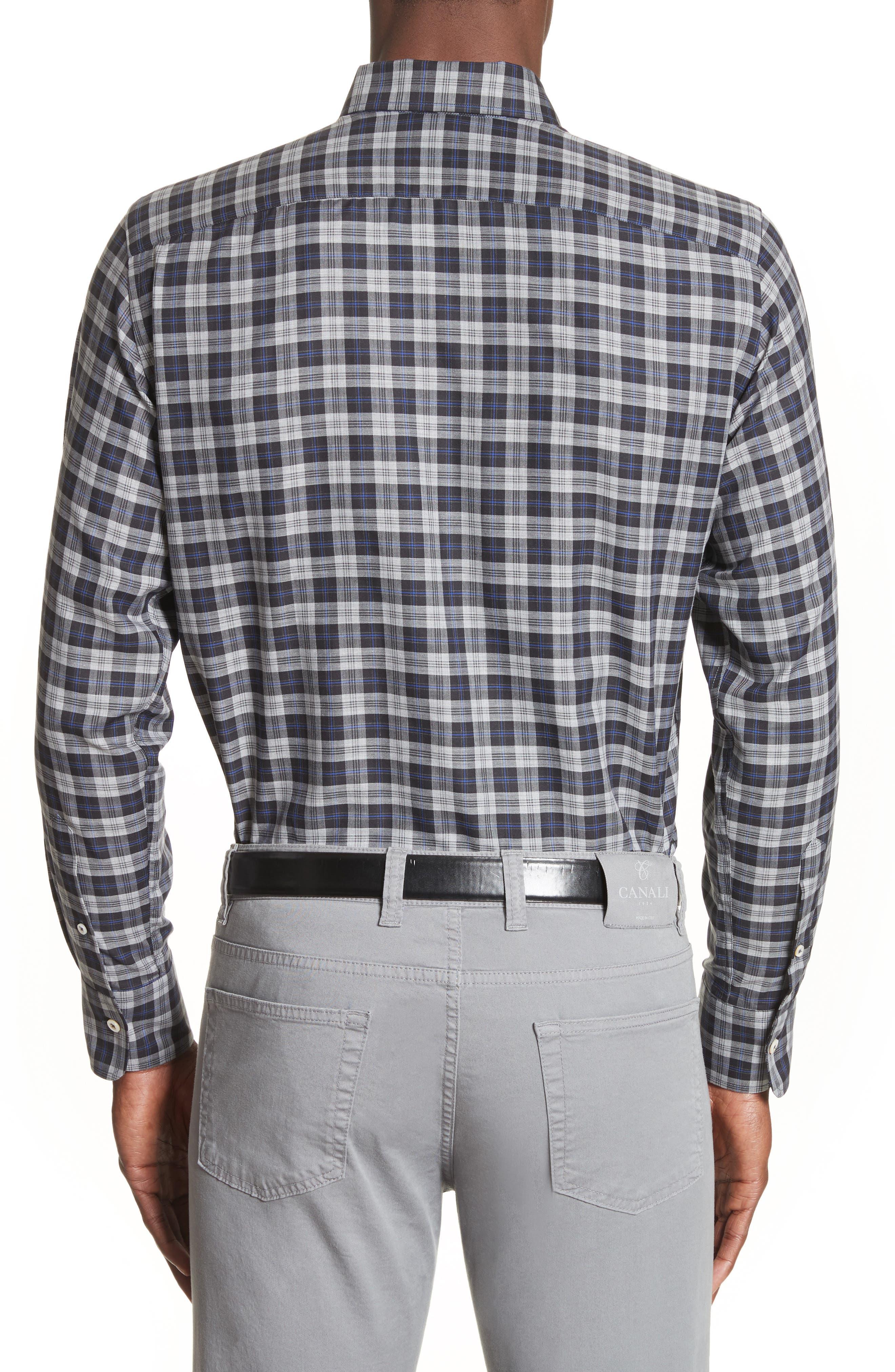 Alternate Image 2  - Canali Plaid Sport Shirt