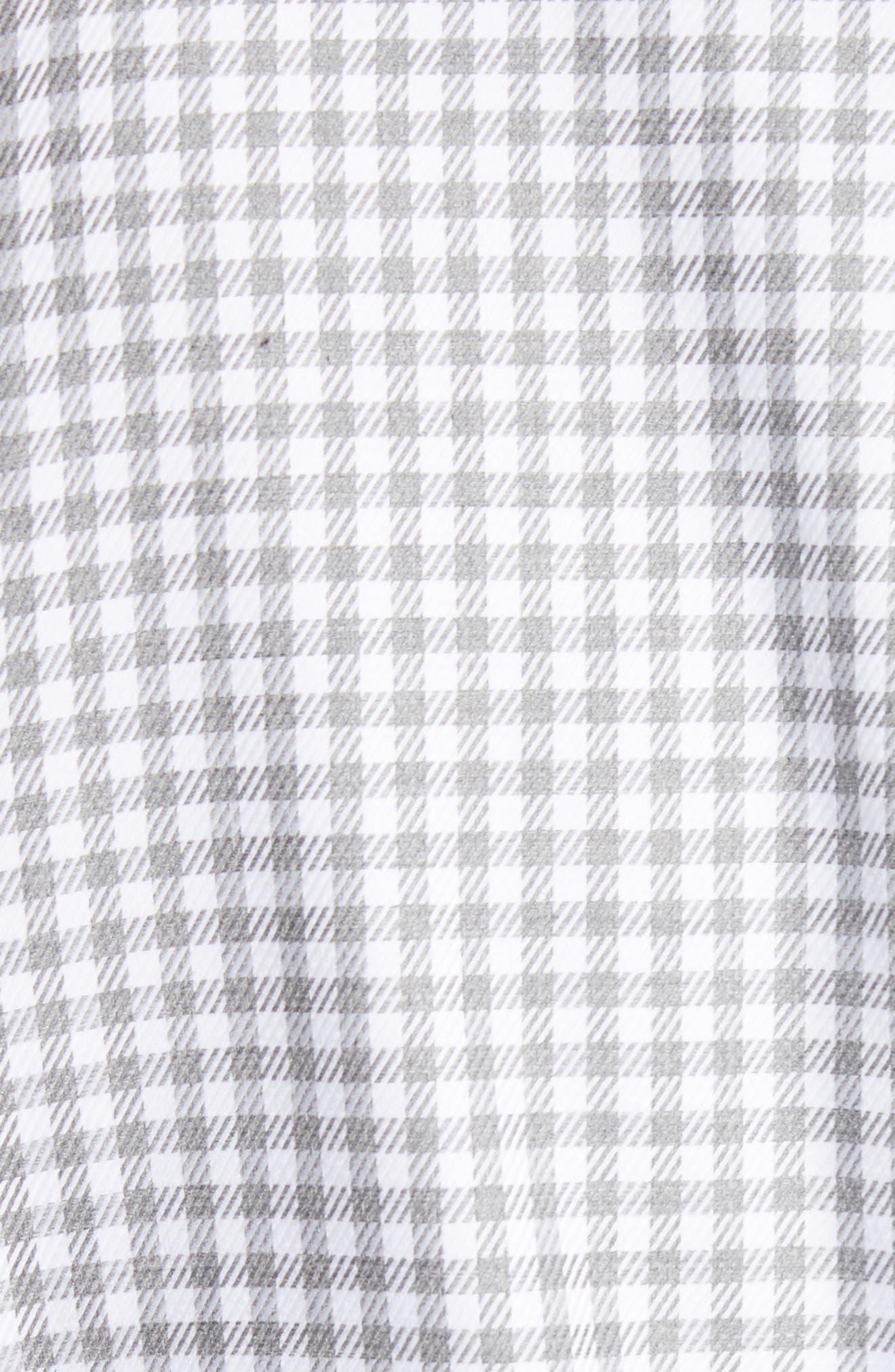 Shepherds Check Sport Shirt,                             Alternate thumbnail 5, color,                             Light Grey