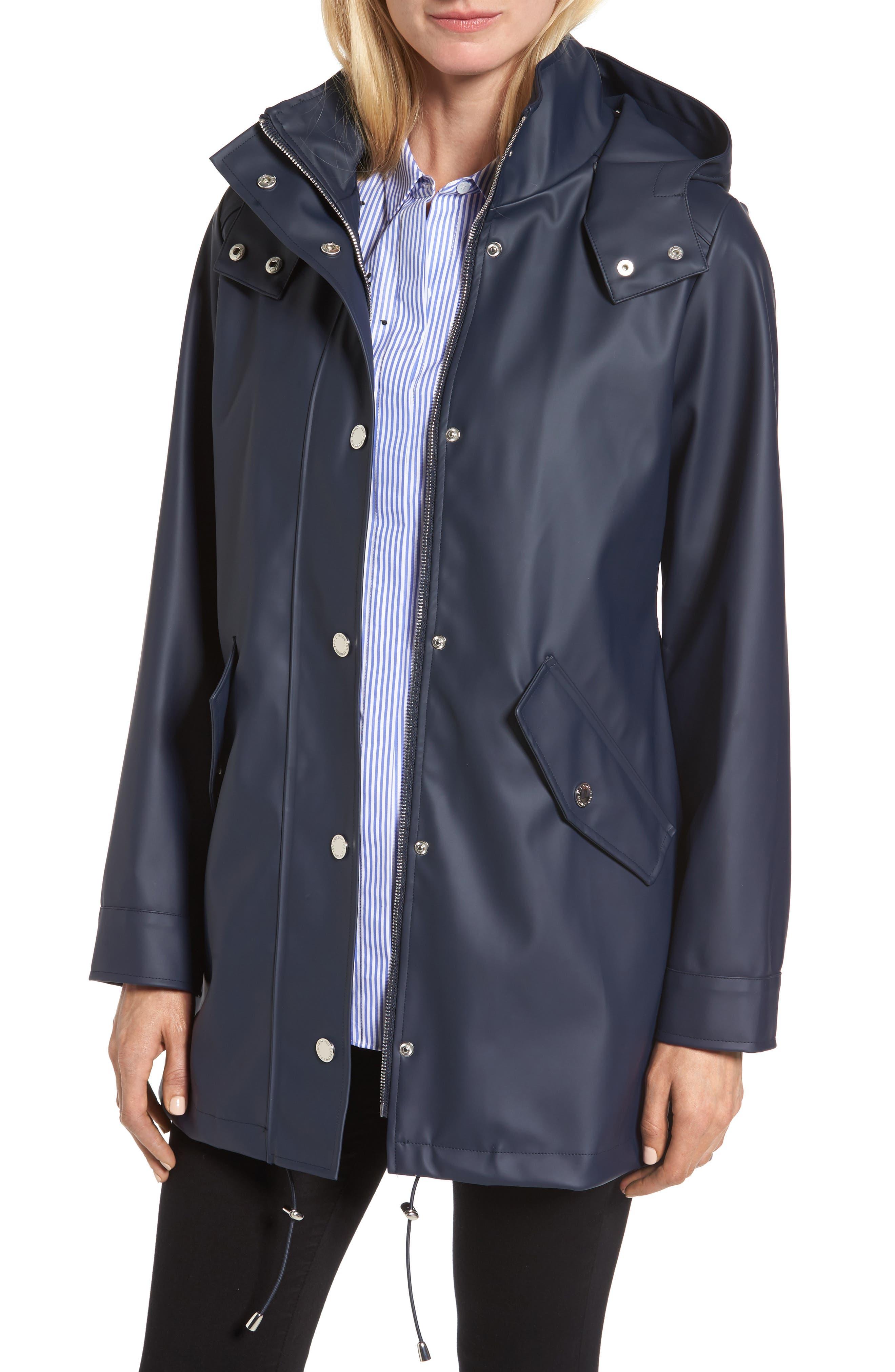 Alternate Image 1 Selected - London Fog Hooded Rain Slicker