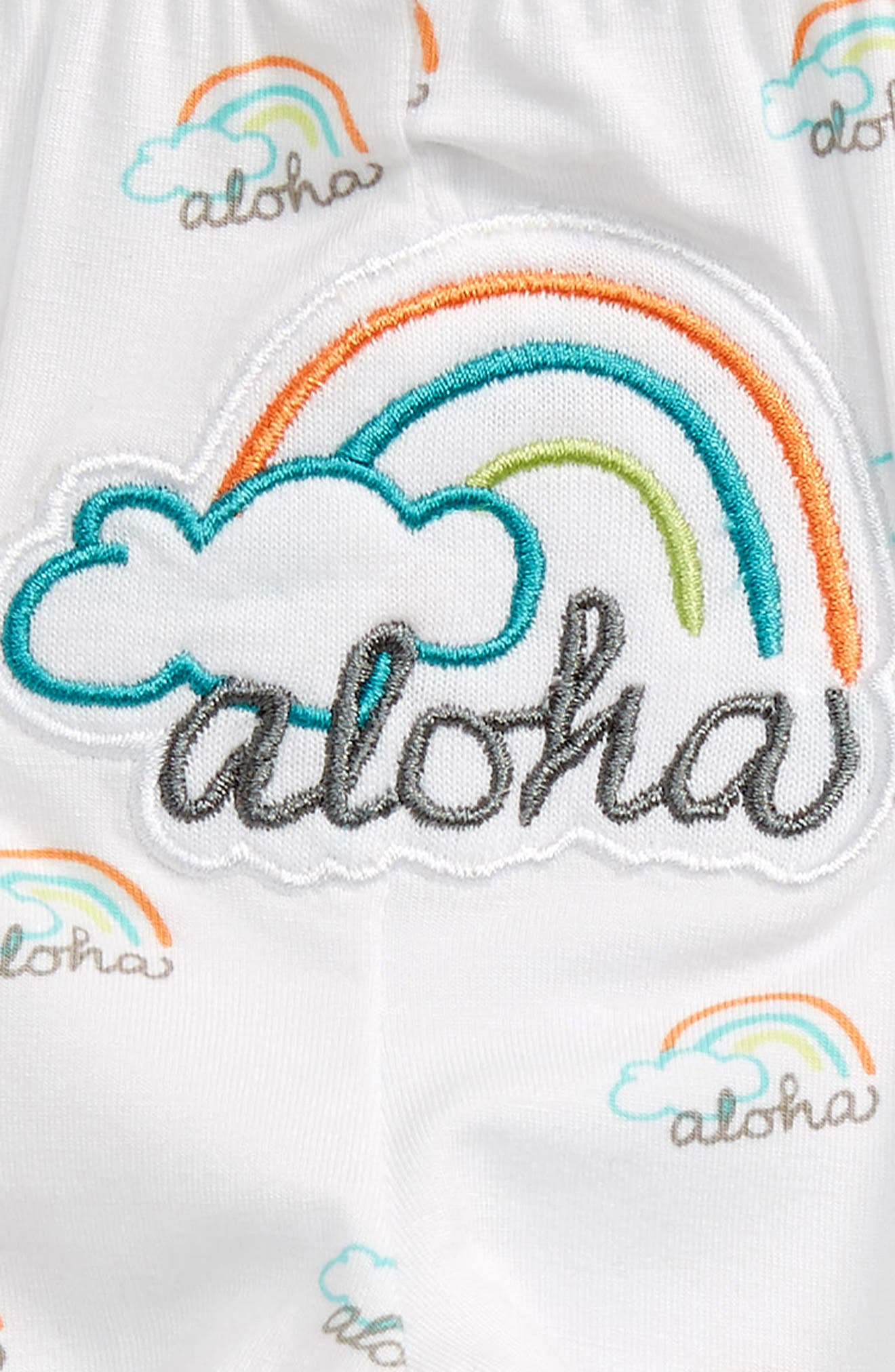 Aloha Leggings,                             Alternate thumbnail 3, color,                             White Print