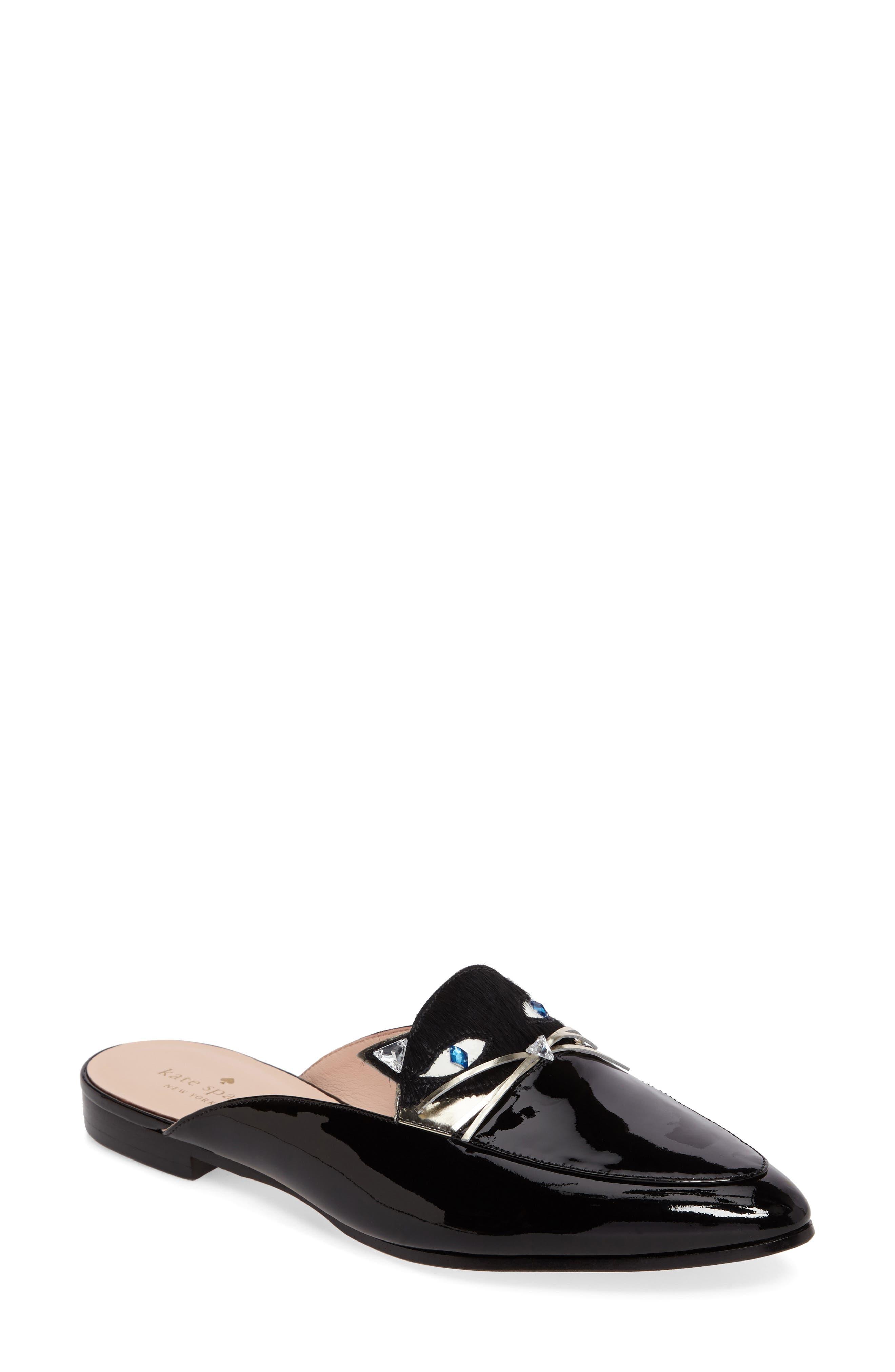 casper mule loafer,                         Main,                         color, Black Patent