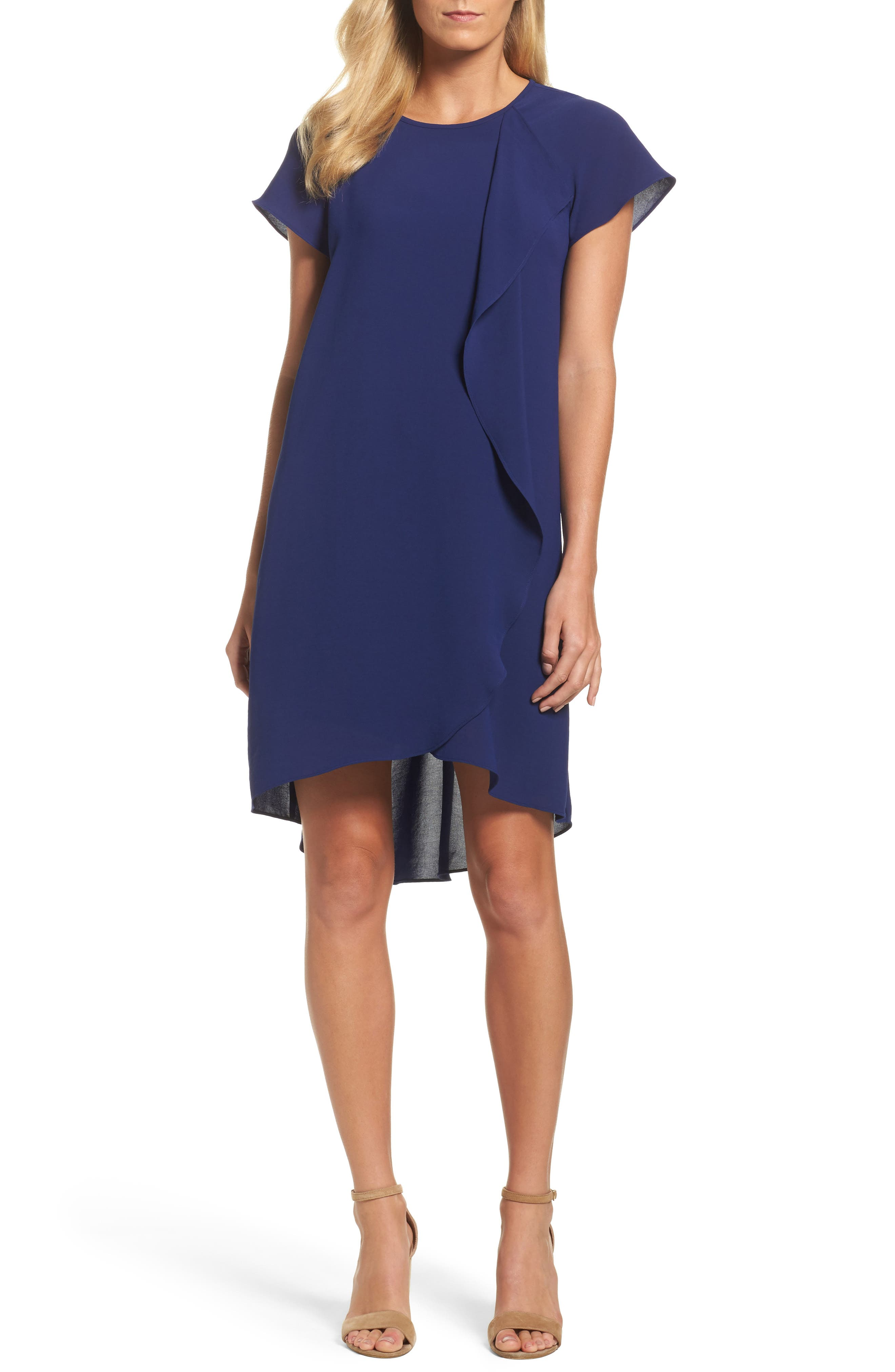 Alternate Image 1 Selected - Adrianna Papell Crepe Shift Dress