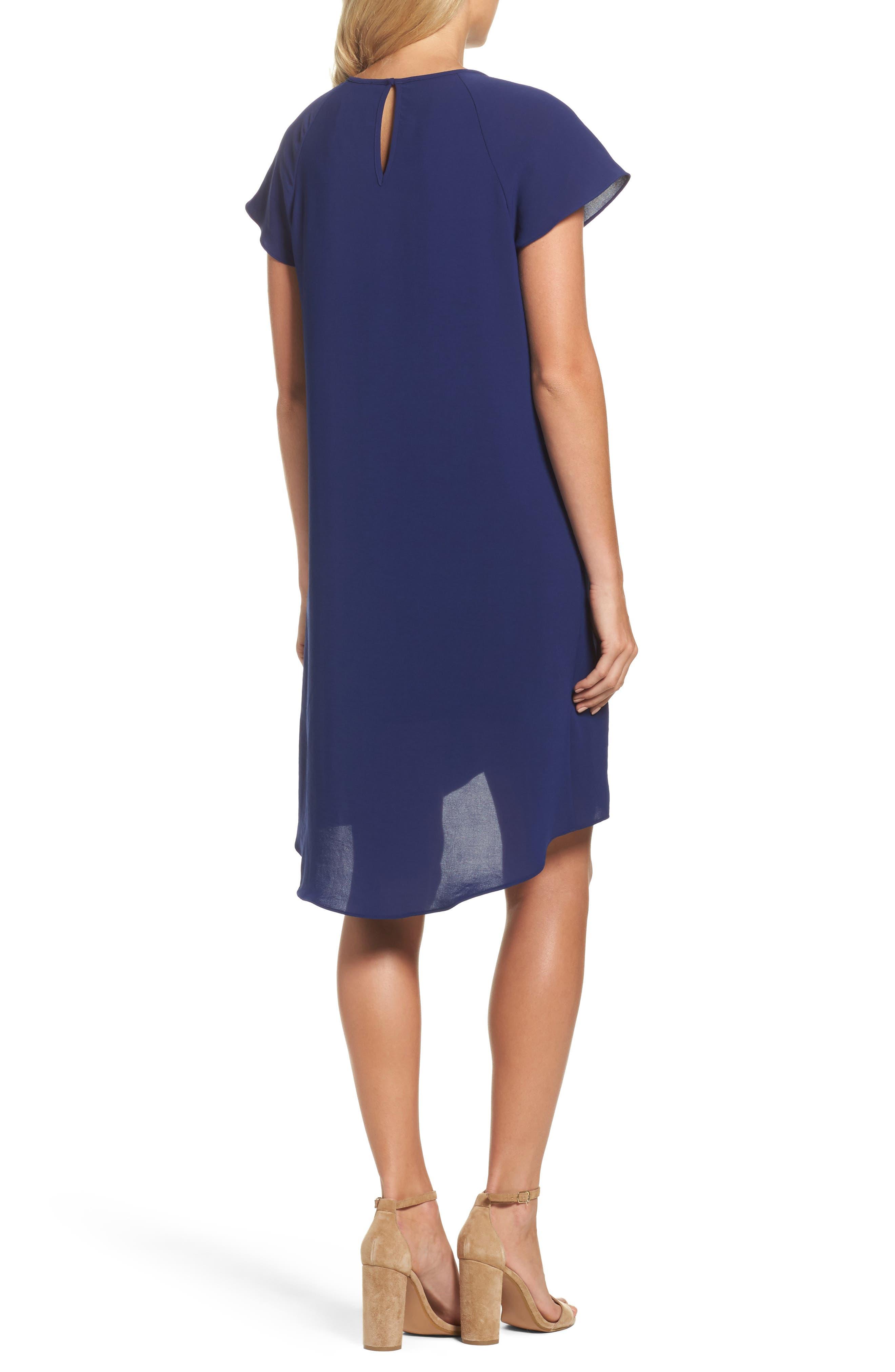 Alternate Image 2  - Adrianna Papell Crepe Shift Dress