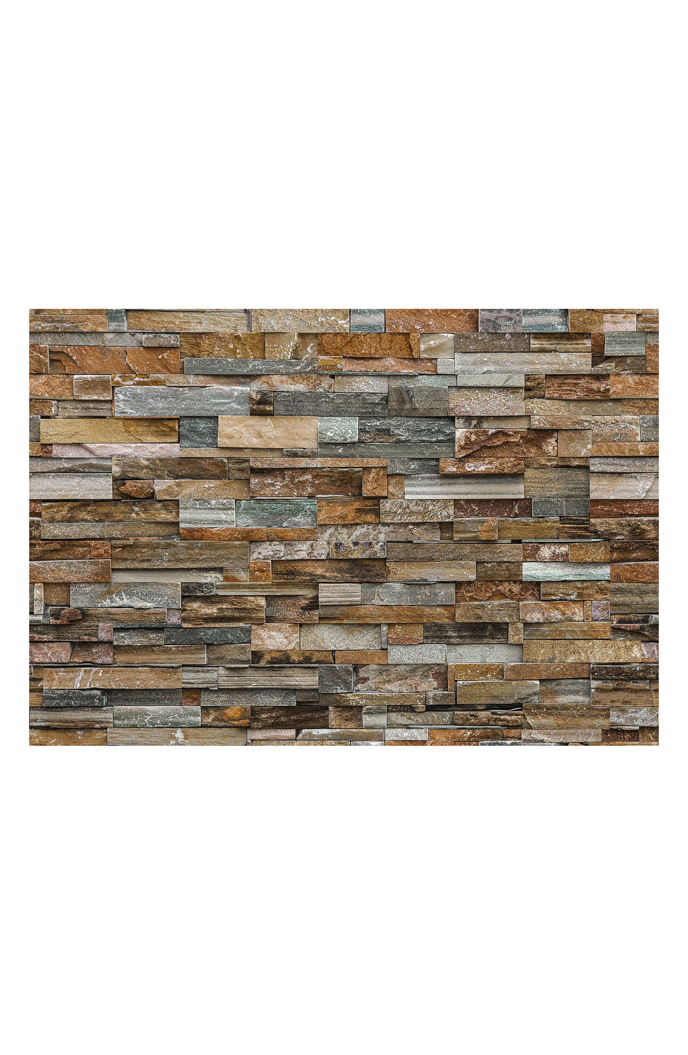Stone 8-Panel Wall Mural,                         Main,                         color, Neutral
