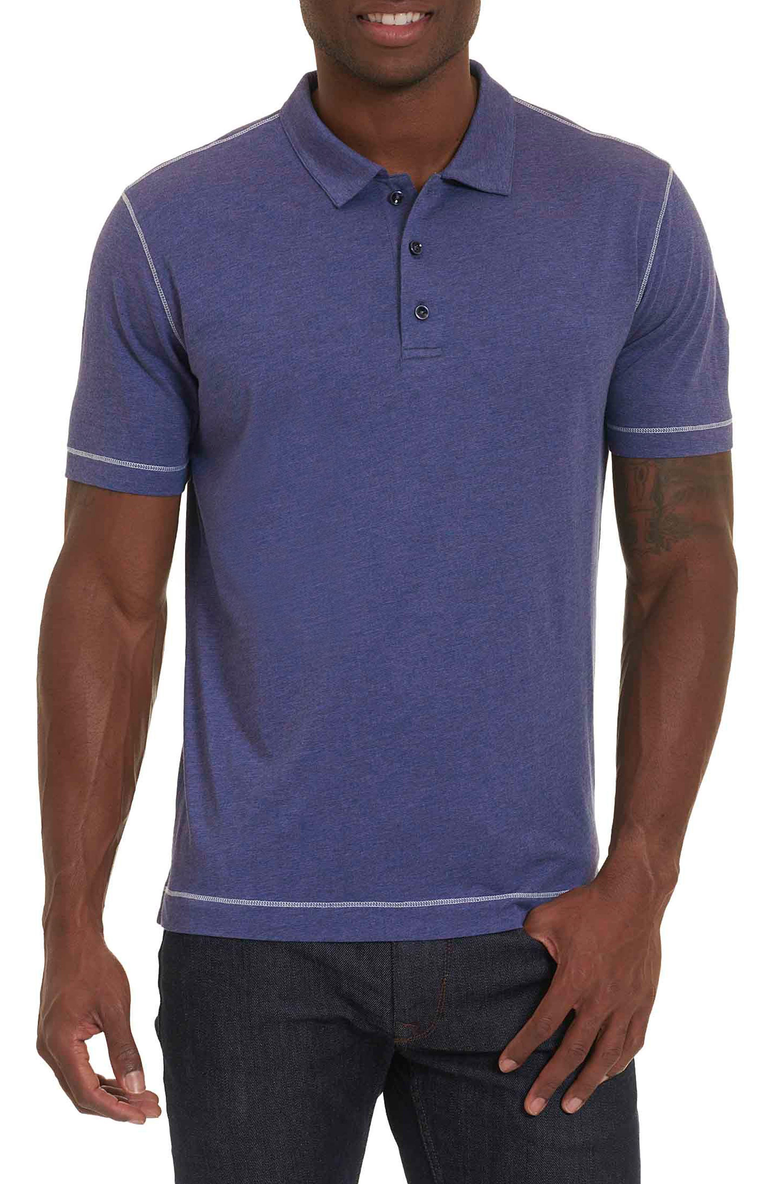 Watsonville Jersey Polo,                         Main,                         color, Heather Navy