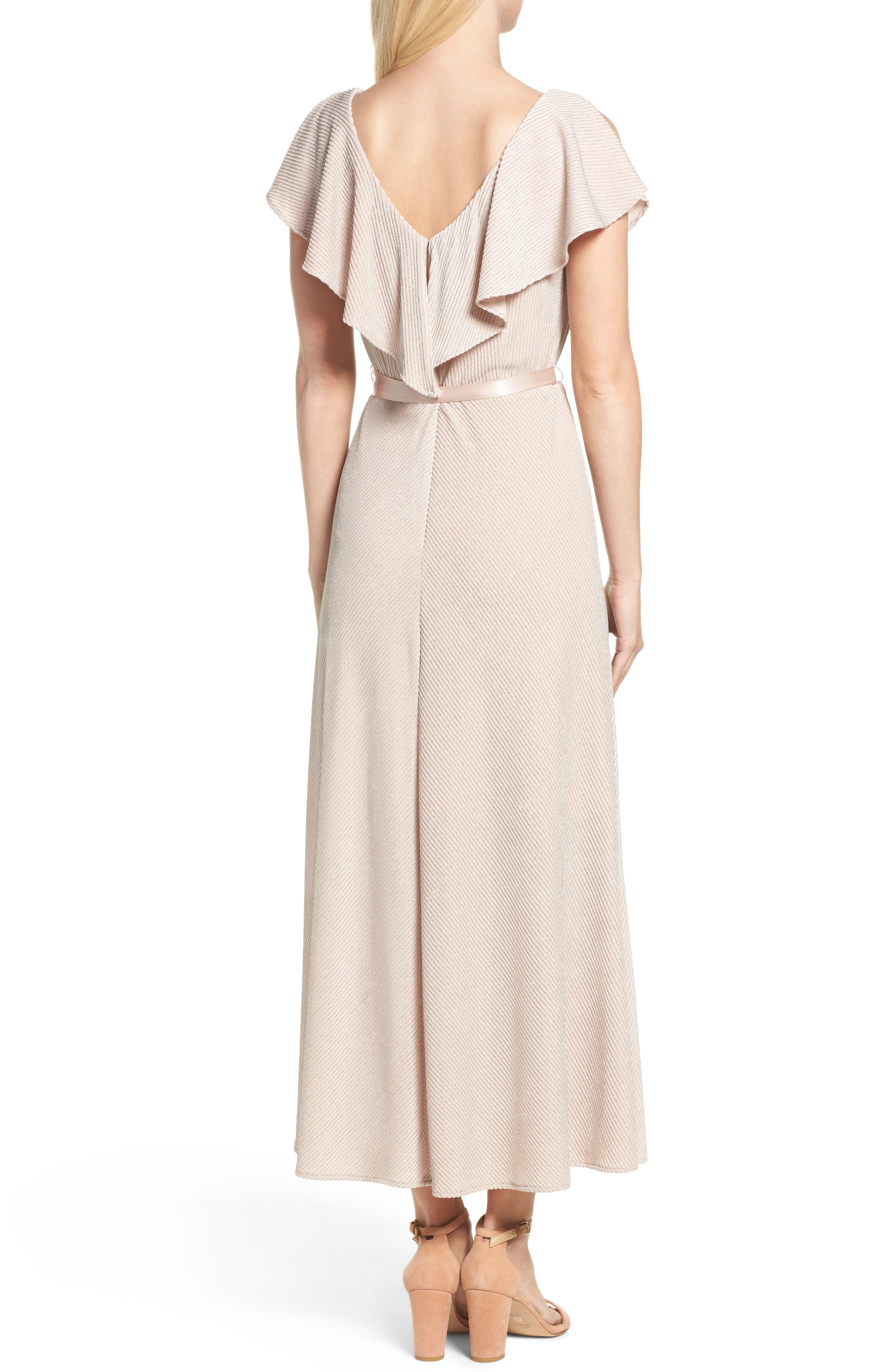 Alternate Image 2  - Taylor Dresses Ruffle Maxi Dress