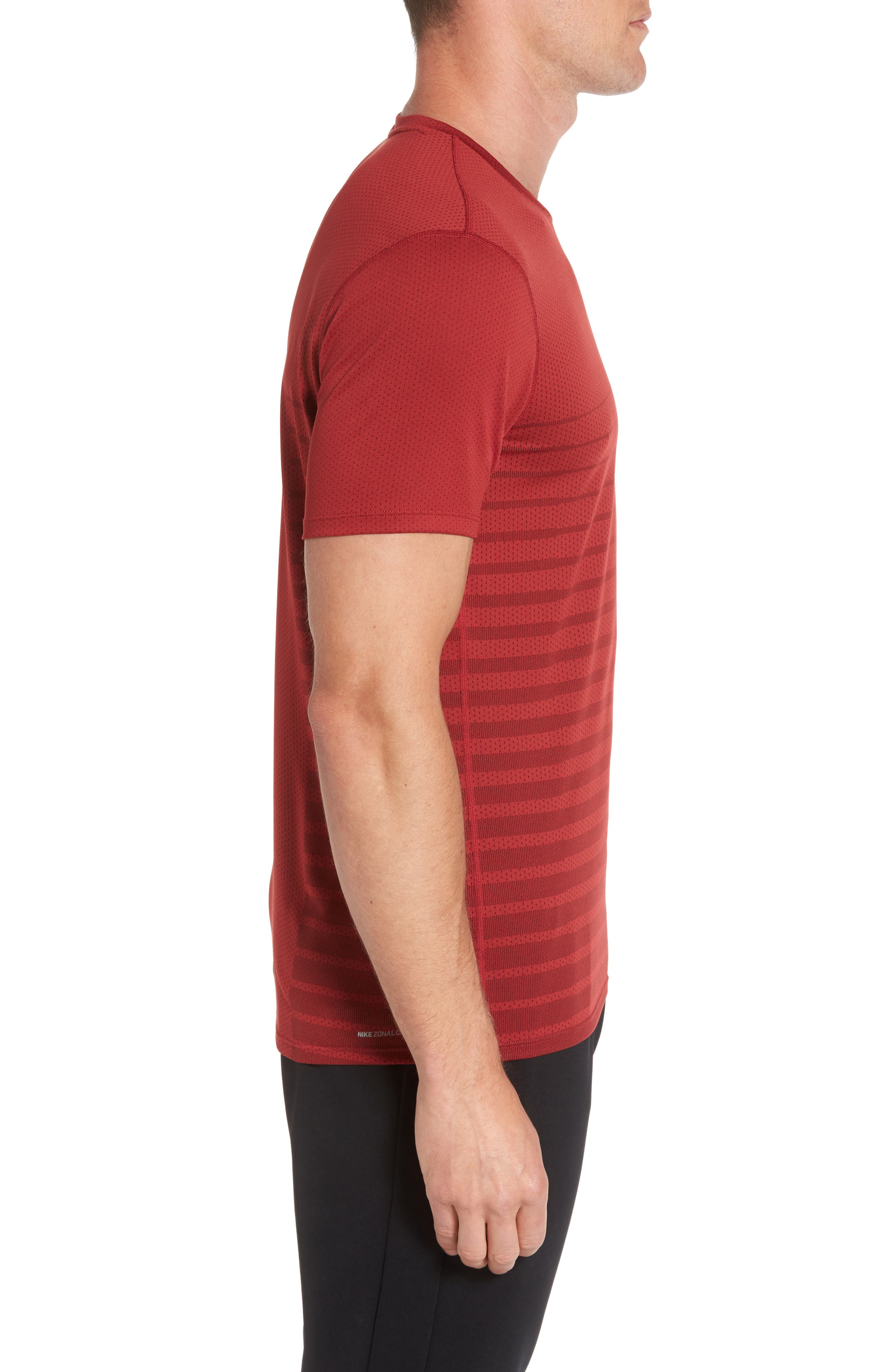 Alternate Image 3  - Nike Mesh Running T-Shirt
