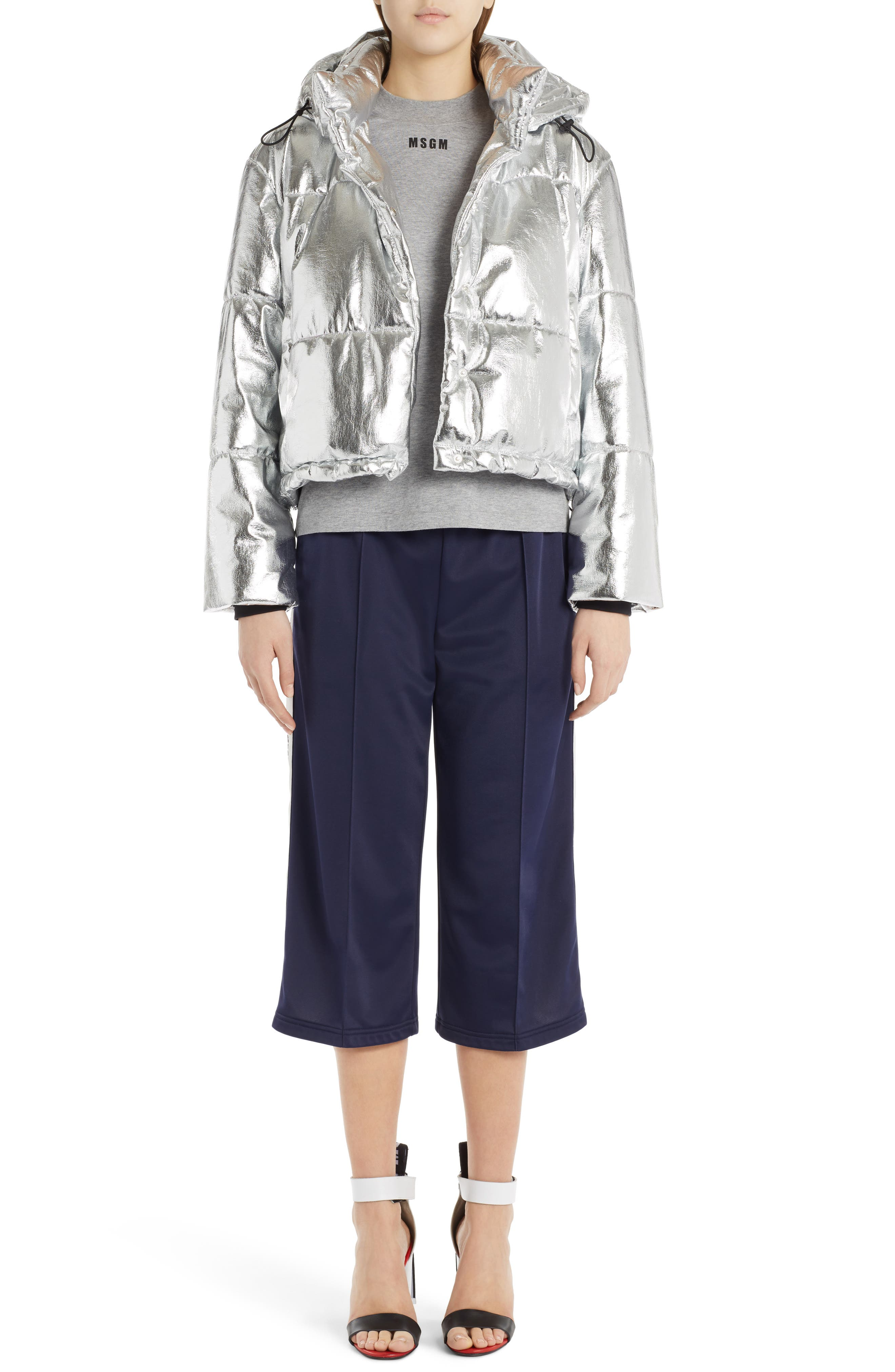 Alternate Image 2  - MSGM Metallic Quilted Bomber Jacket