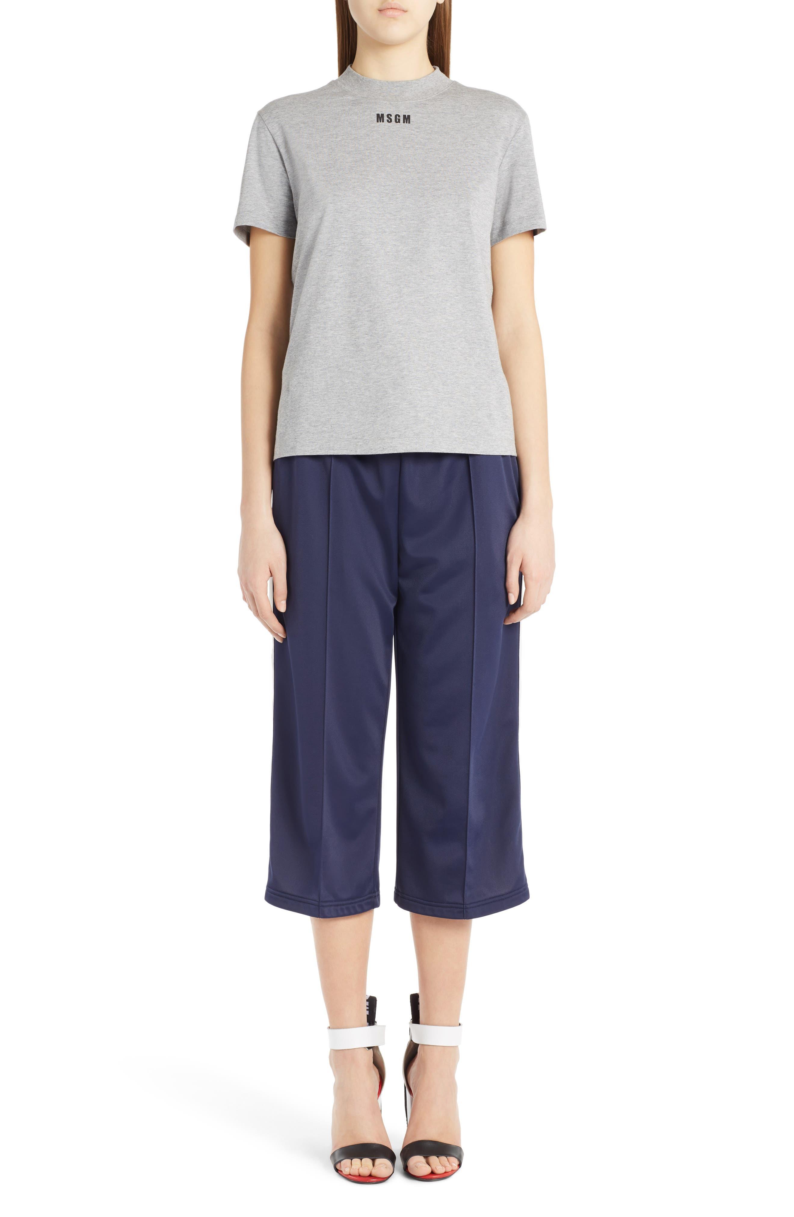 Crop Wide Leg Track Pants,                             Alternate thumbnail 2, color,                             Dark Blue