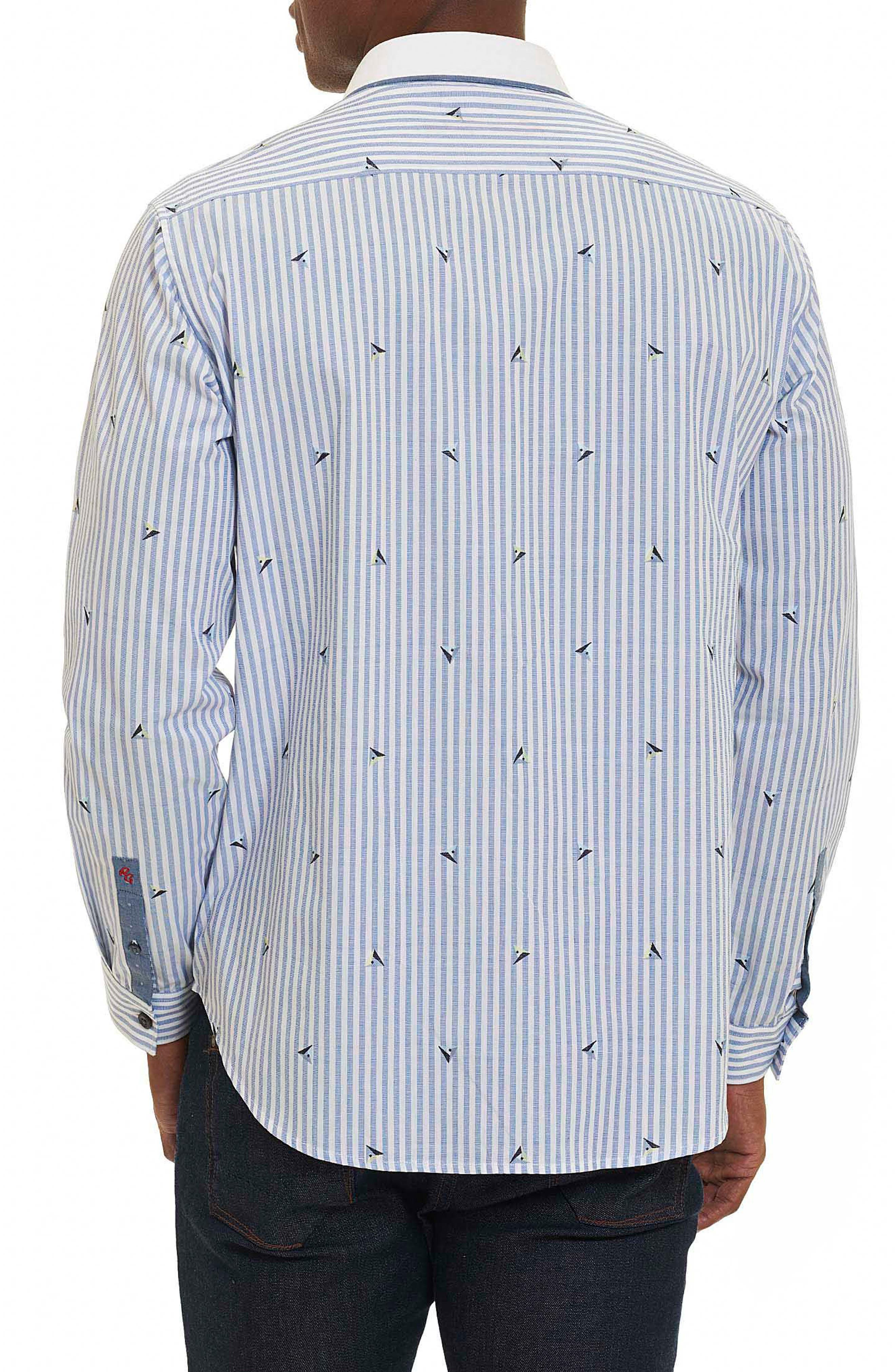 Alternate Image 2  - Robert Graham Del Ray Oaks Stripe Sport Shirt