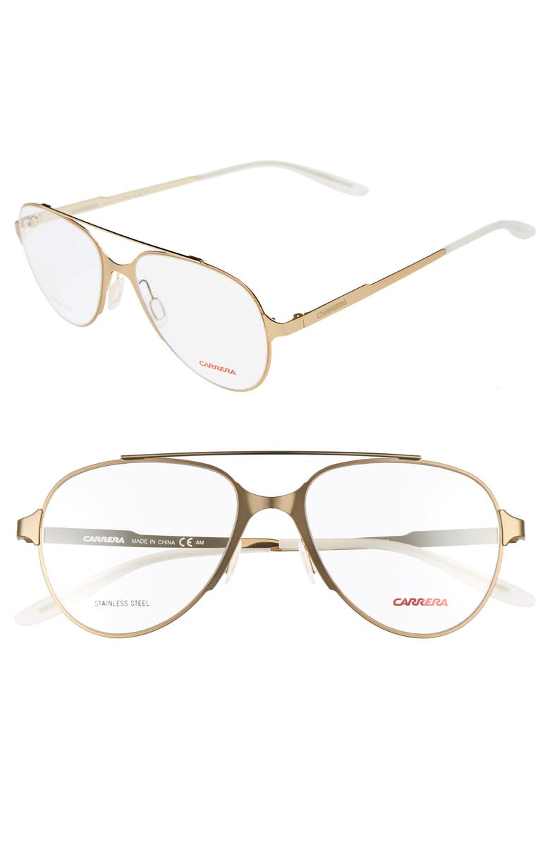 Carrera Eyewear 53mm Aviator Optical Frames | Nordstrom