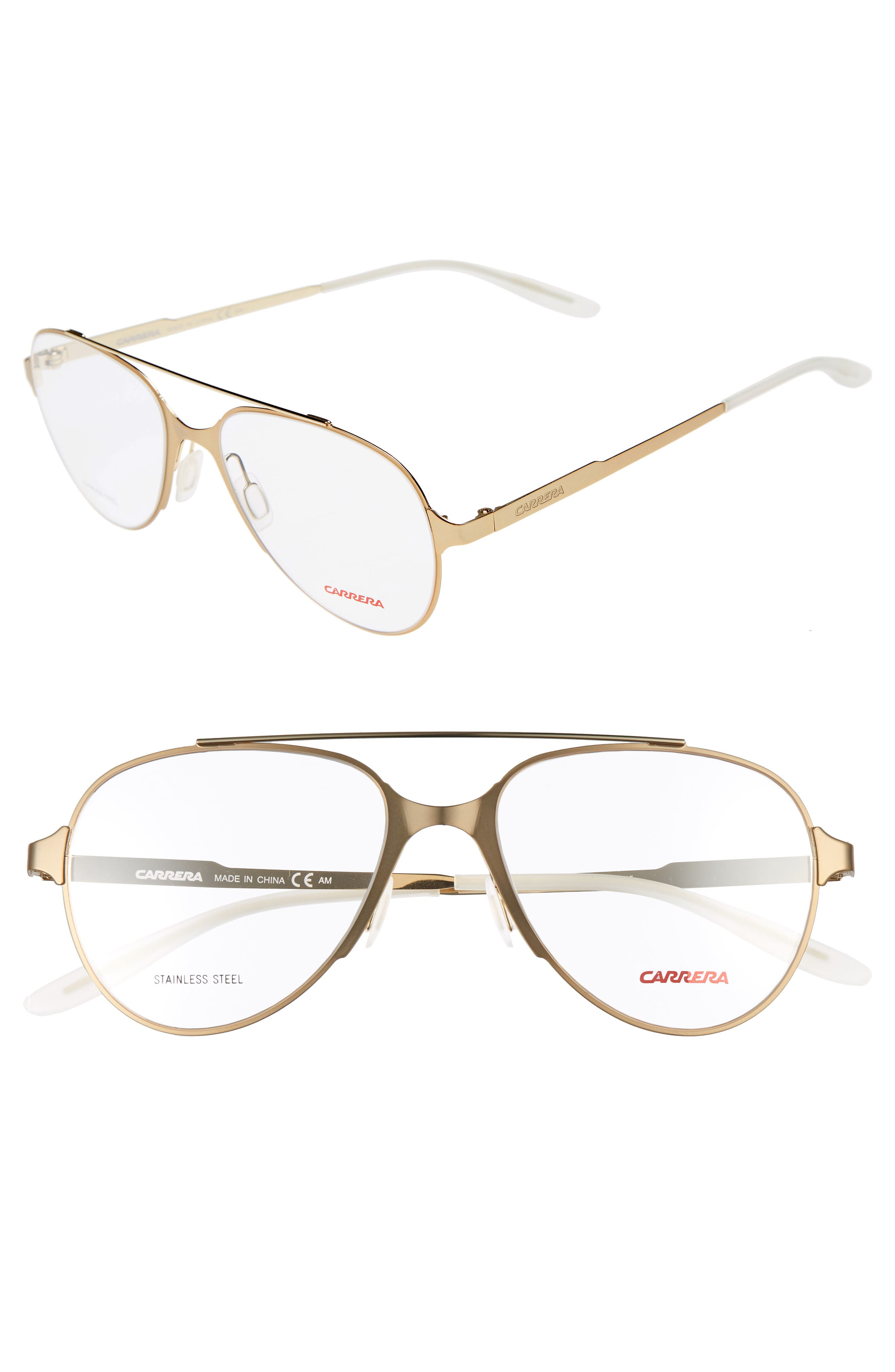 Carrera Eyewear 53mm Aviator Optical Frames