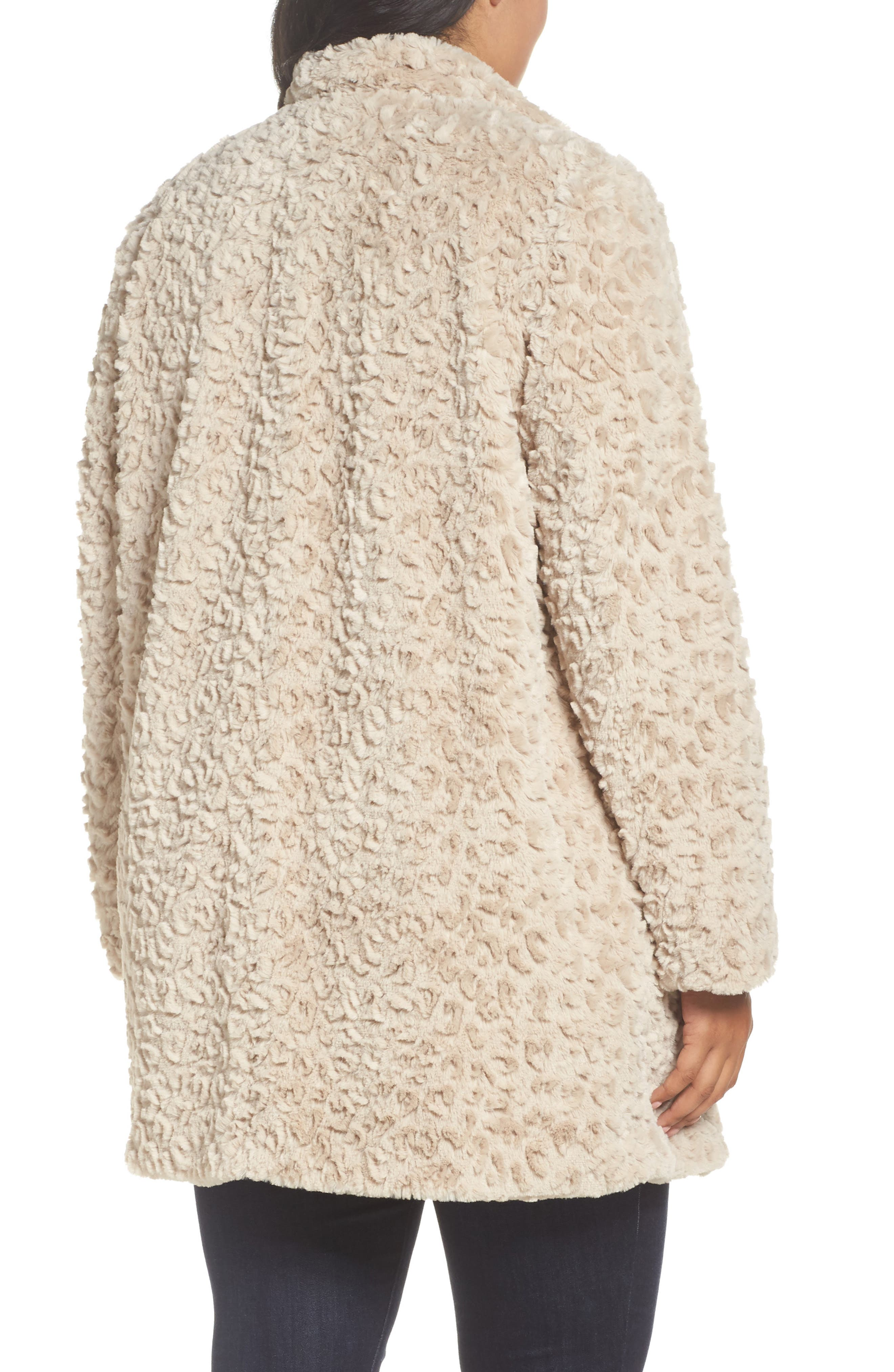 Alternate Image 2  - Kenneth Cole New York Faux Fur Jacket (Plus Size)