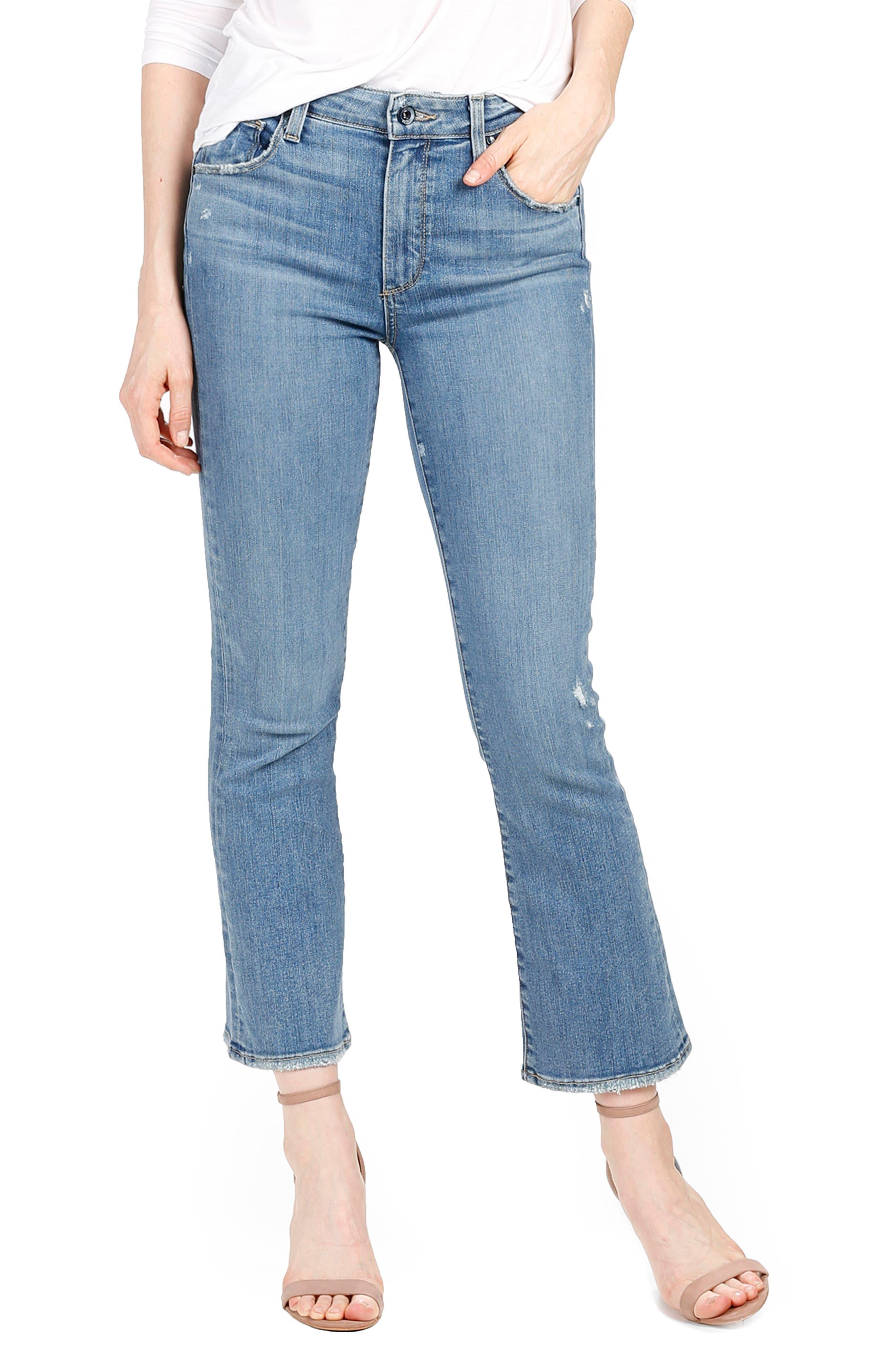Main Image - PAIGE Transcend - Colette High Waist Crop Flare Jeans (Sienna)