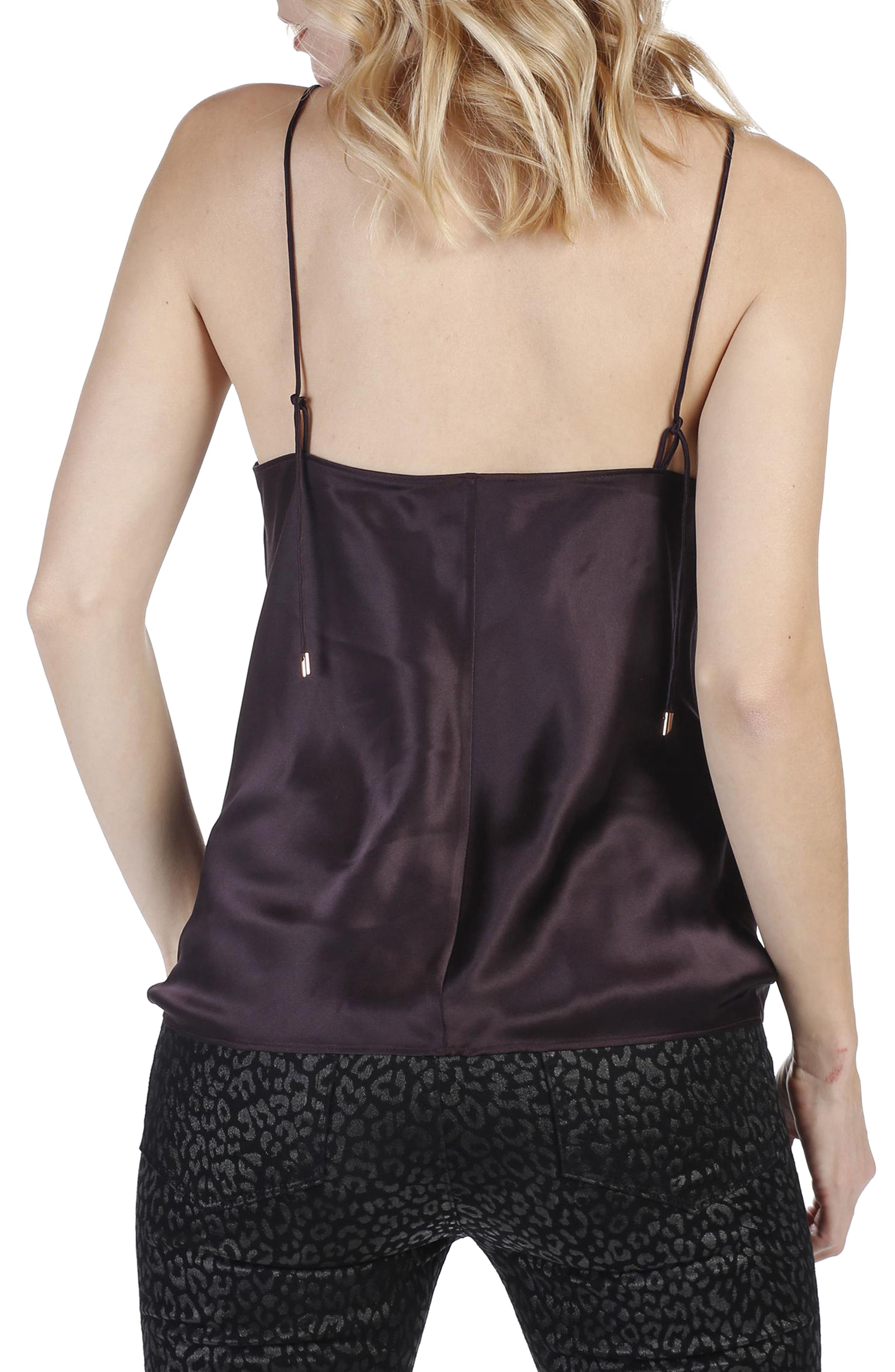 Cicely Camisole,                             Alternate thumbnail 3, color,                             Black Cherry