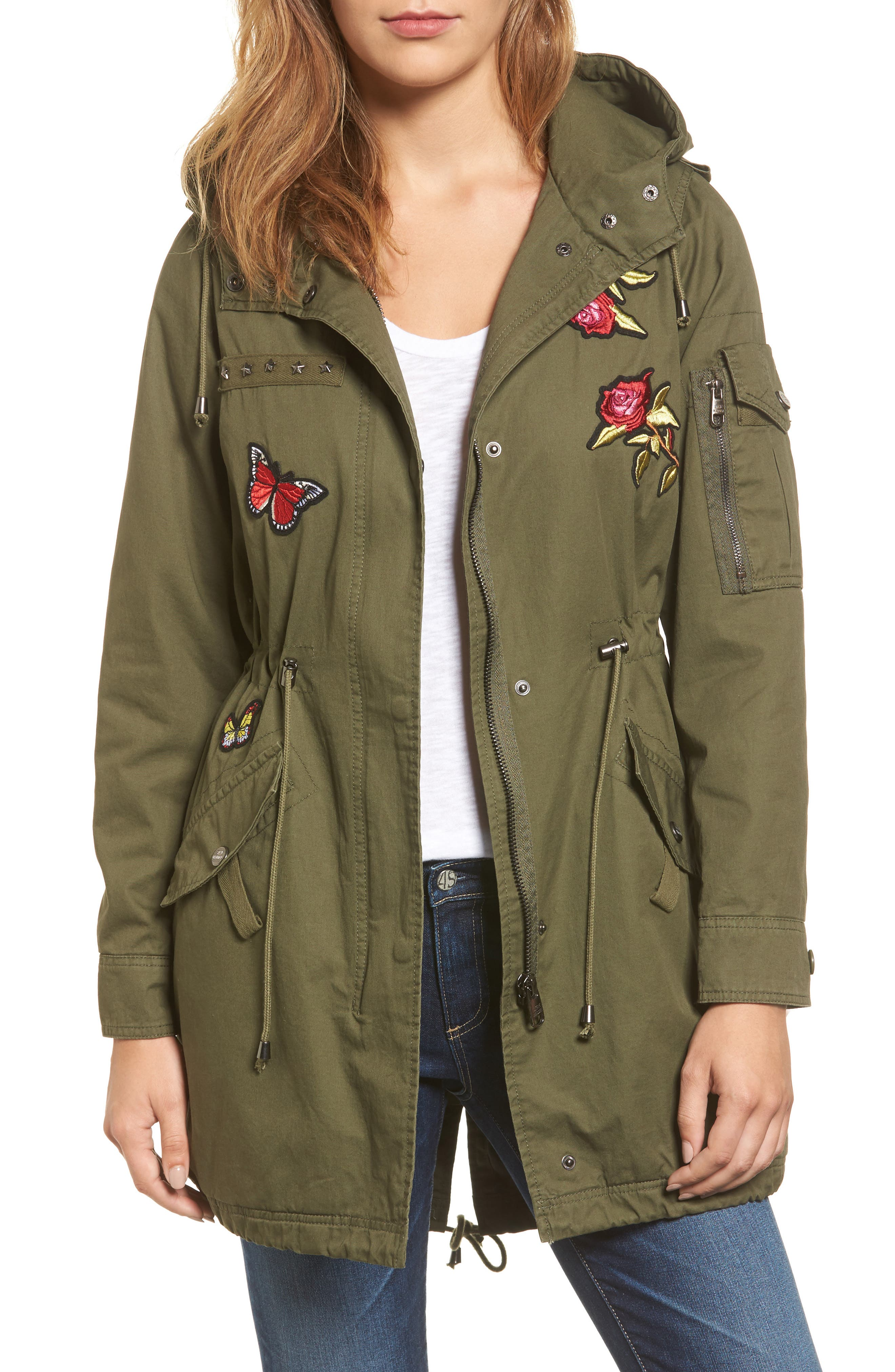 Steve Madden Patch Cotton Anorak
