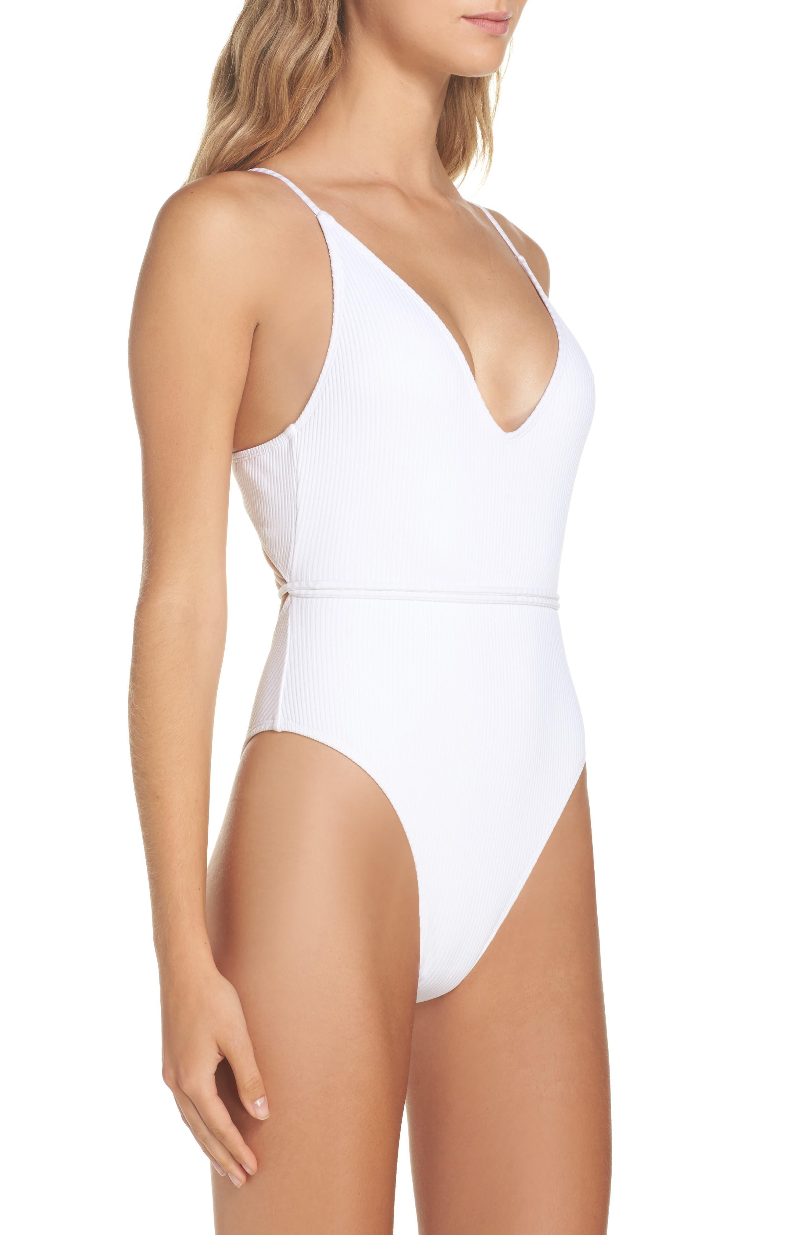 Daiquiri One-Piece Swimsuit,                             Alternate thumbnail 3, color,                             Sea Salt