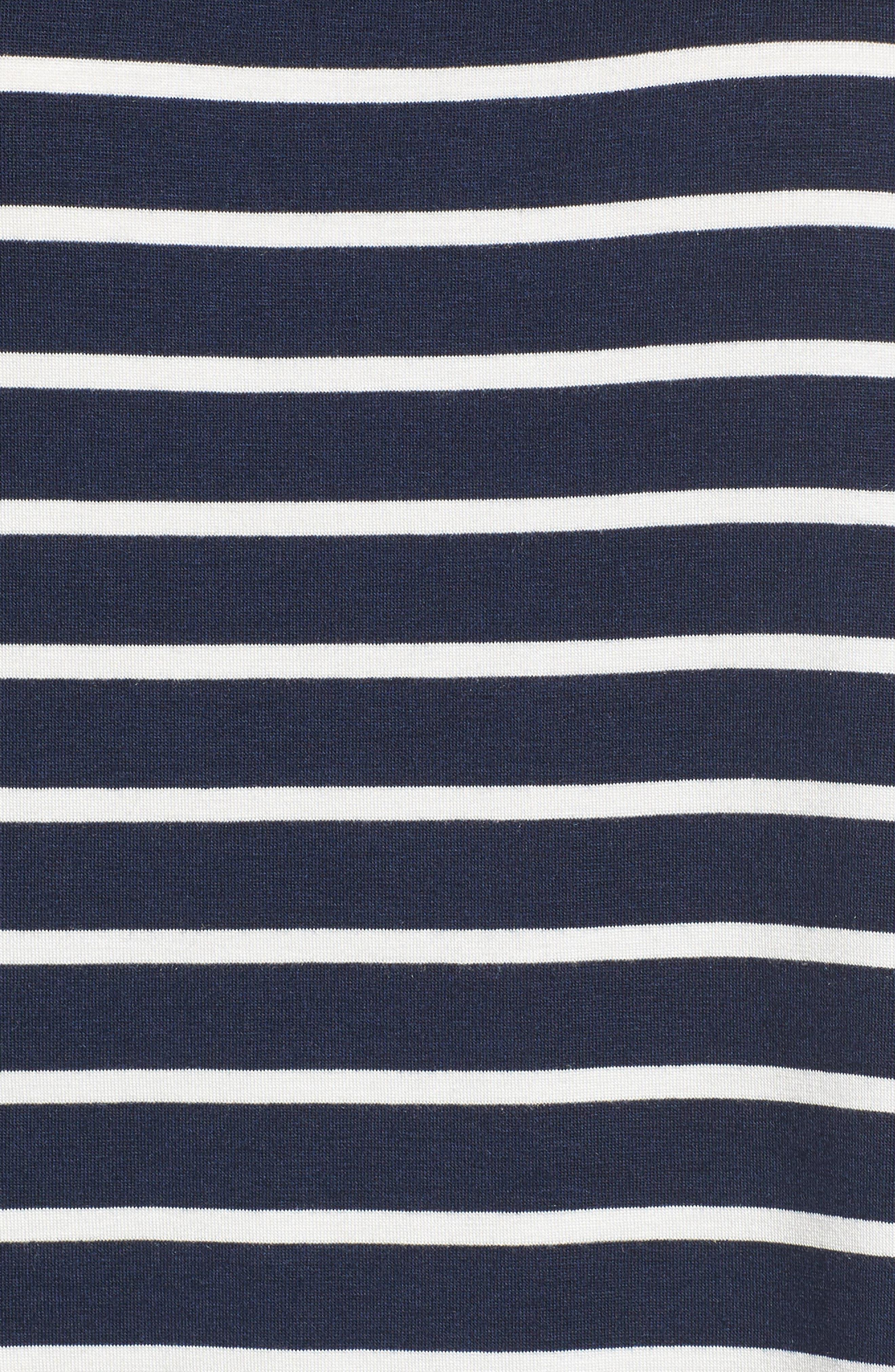 Casey Tee,                             Alternate thumbnail 5, color,                             Basque Stripe
