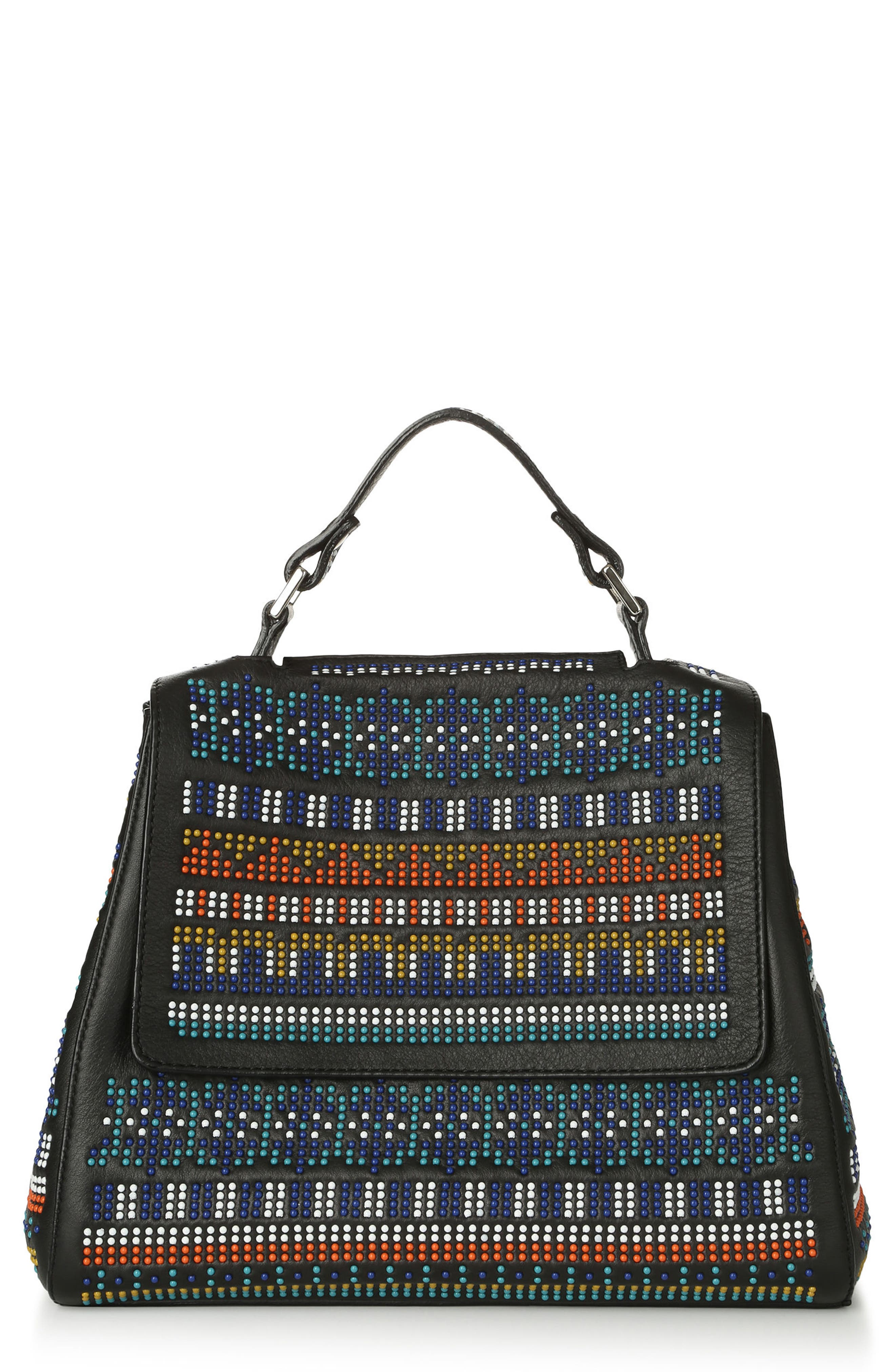 Alternate Image 1 Selected - Orciani Studded Leather Convertible Crossbody Satchel