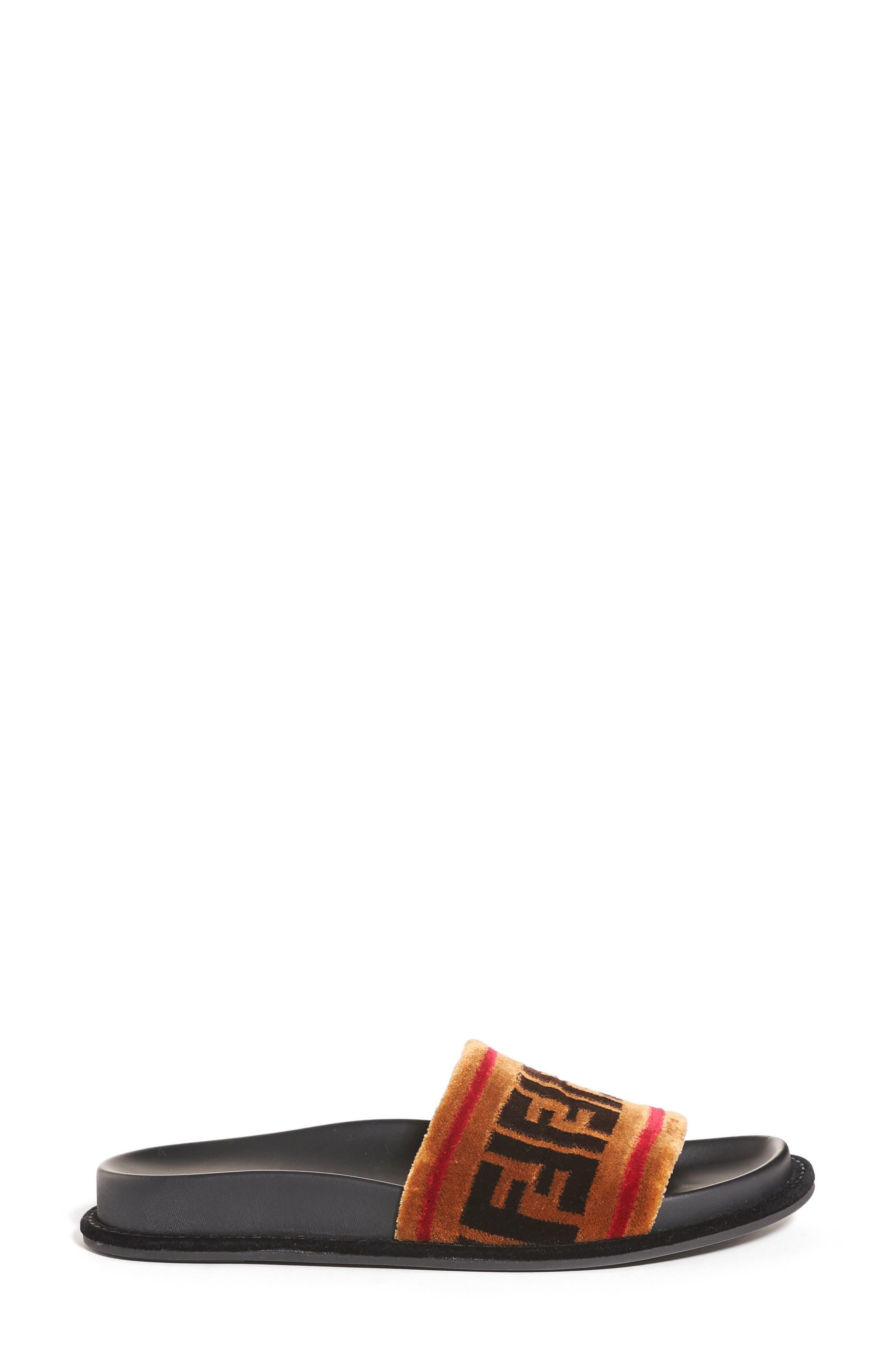Alternate Image 4  - Fendi Logo Slide Sandal (Women)