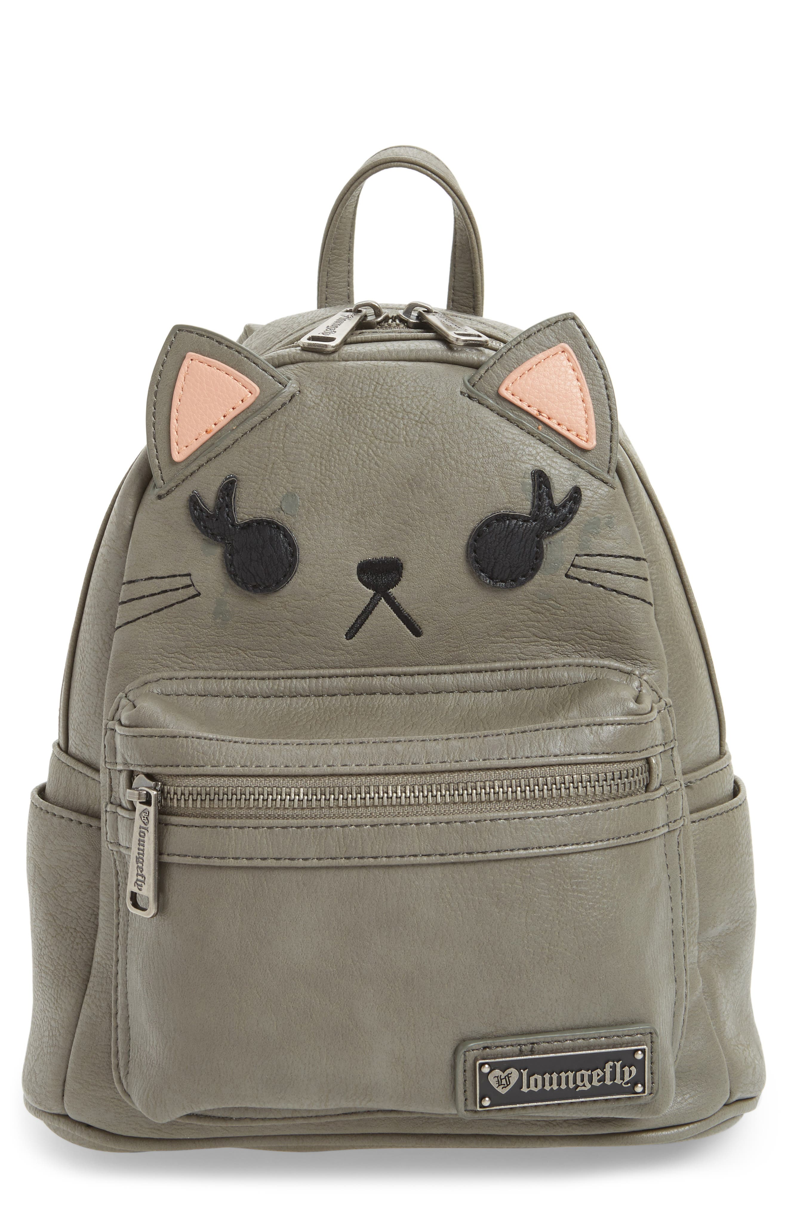 Loungefly Cat Faux Leather Backpack (Kids)