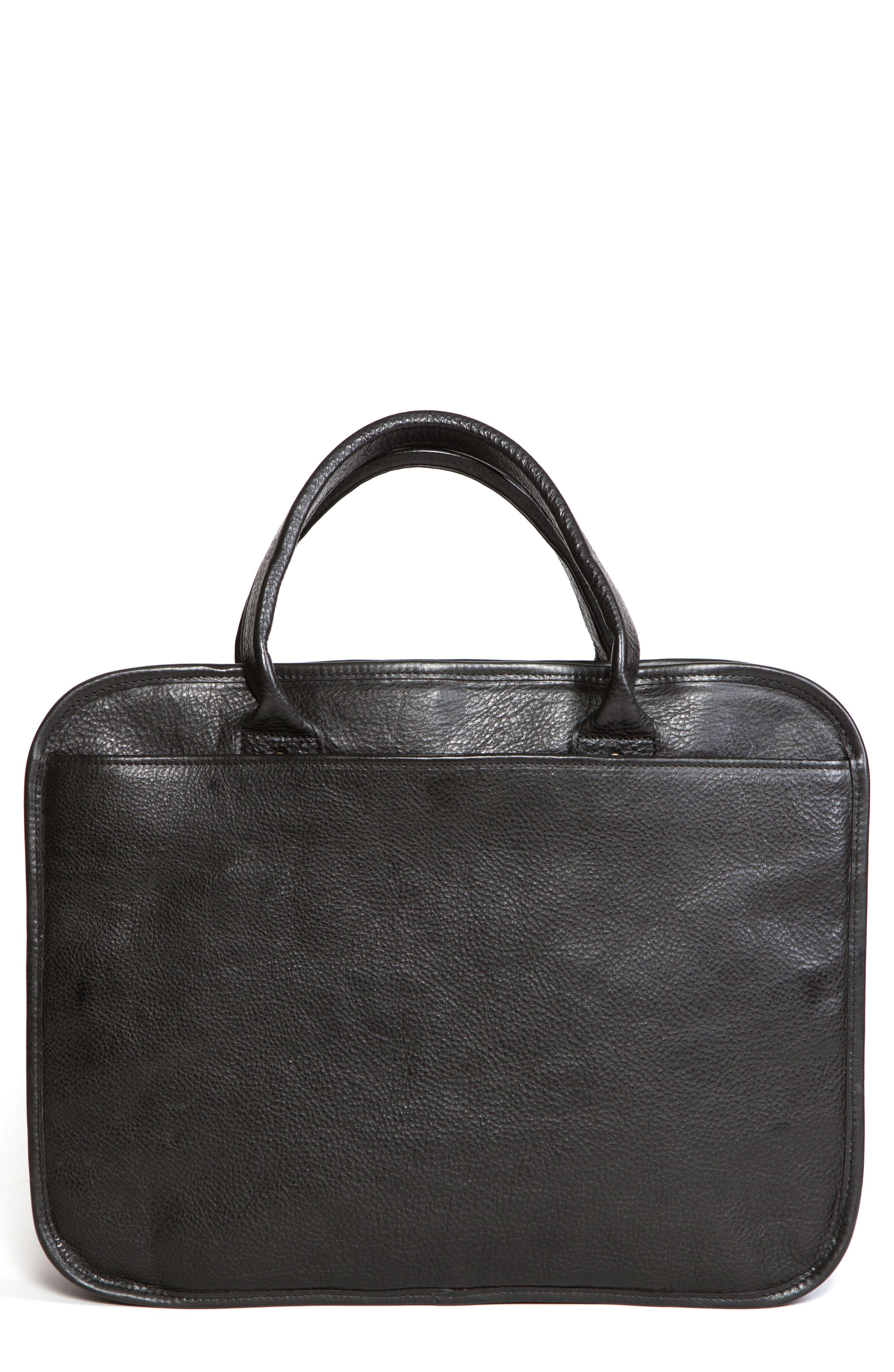 Miller Leather Briefcase,                         Main,                         color, Titan Milled Navy And Gunmetal