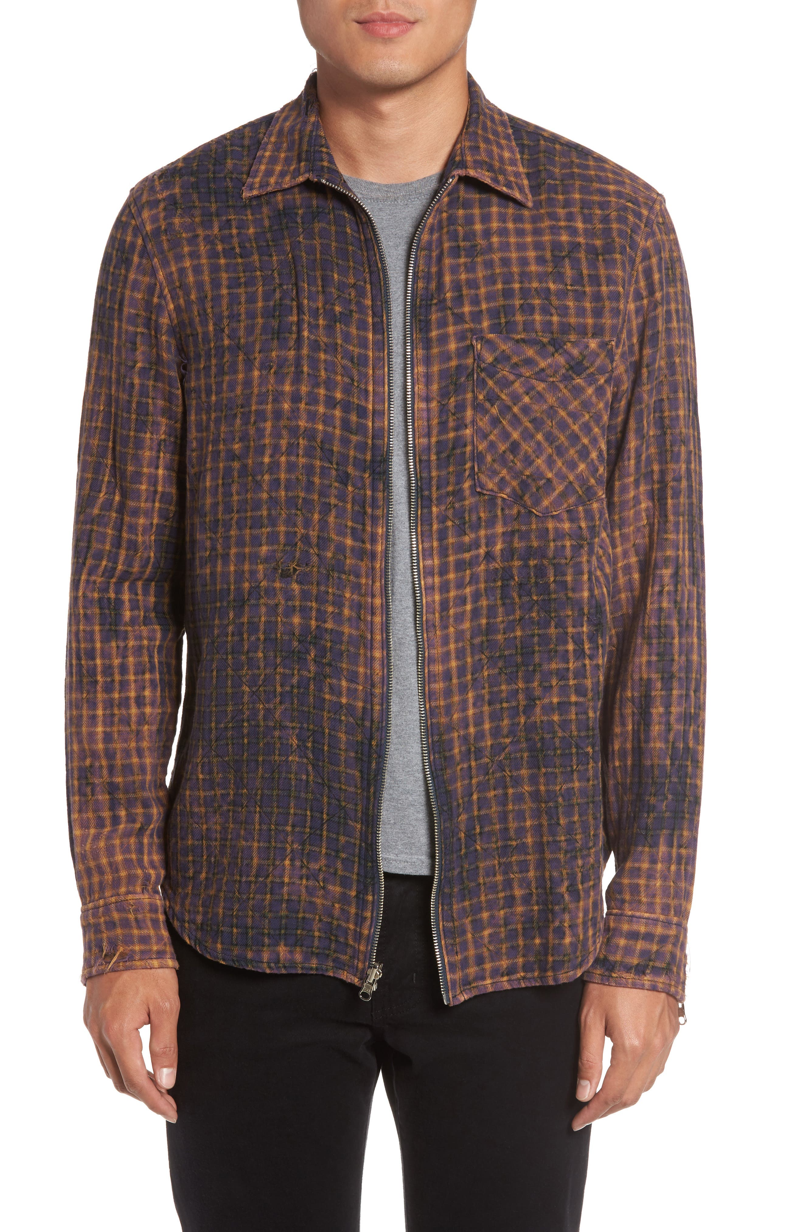 Hudson Jeans Slim Zip Front Sport Shirt