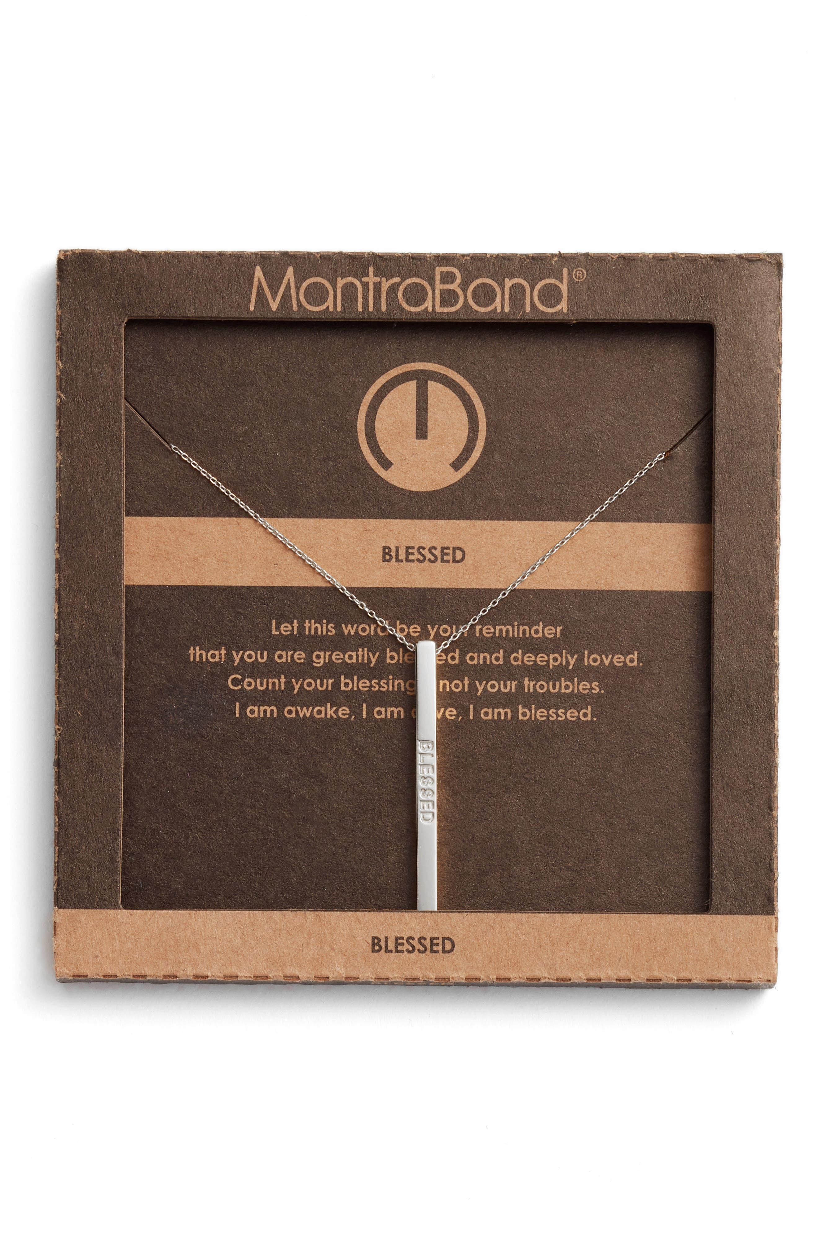 Alternate Image 3  - MantraBand® Blessed Pendant Necklace