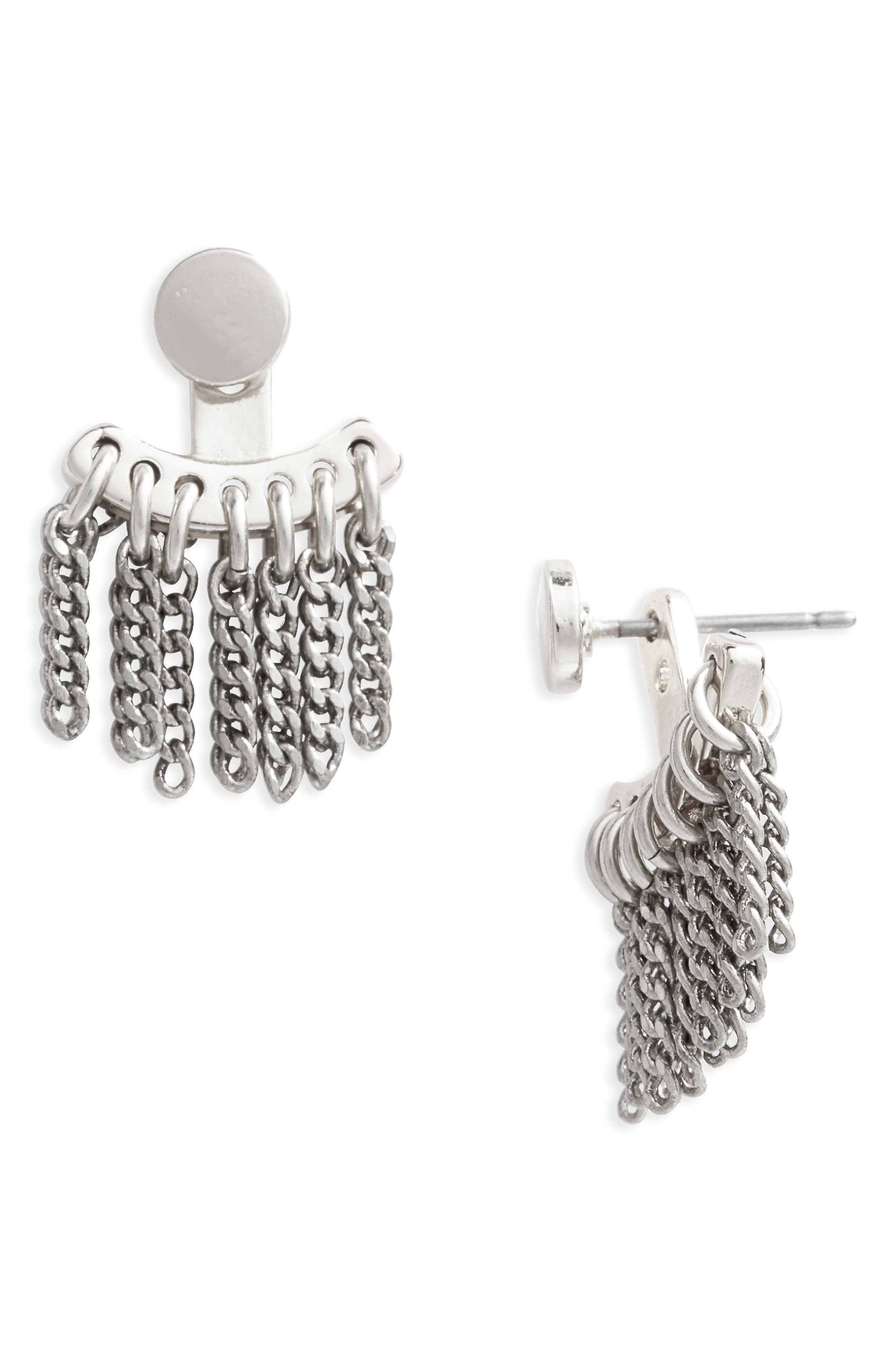 Collings Ave Ear Jackets,                         Main,                         color, Silver