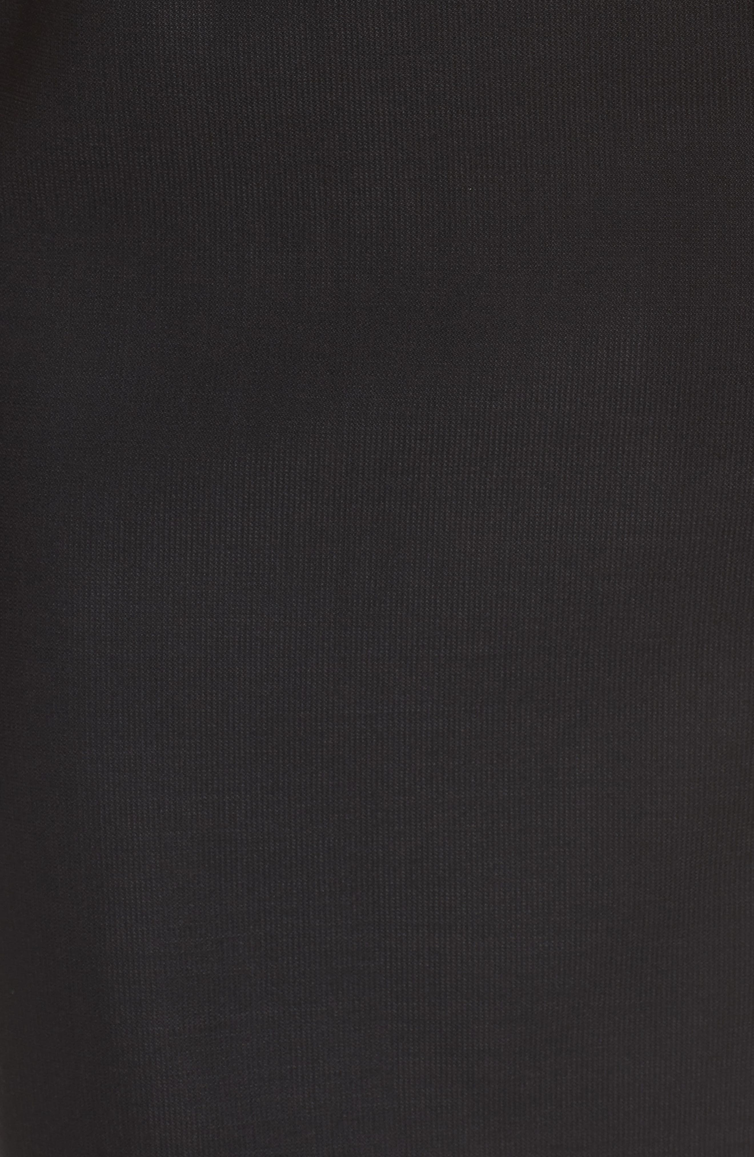 Delera Stretch Wool Sheath Dress,                             Alternate thumbnail 5, color,                             Black