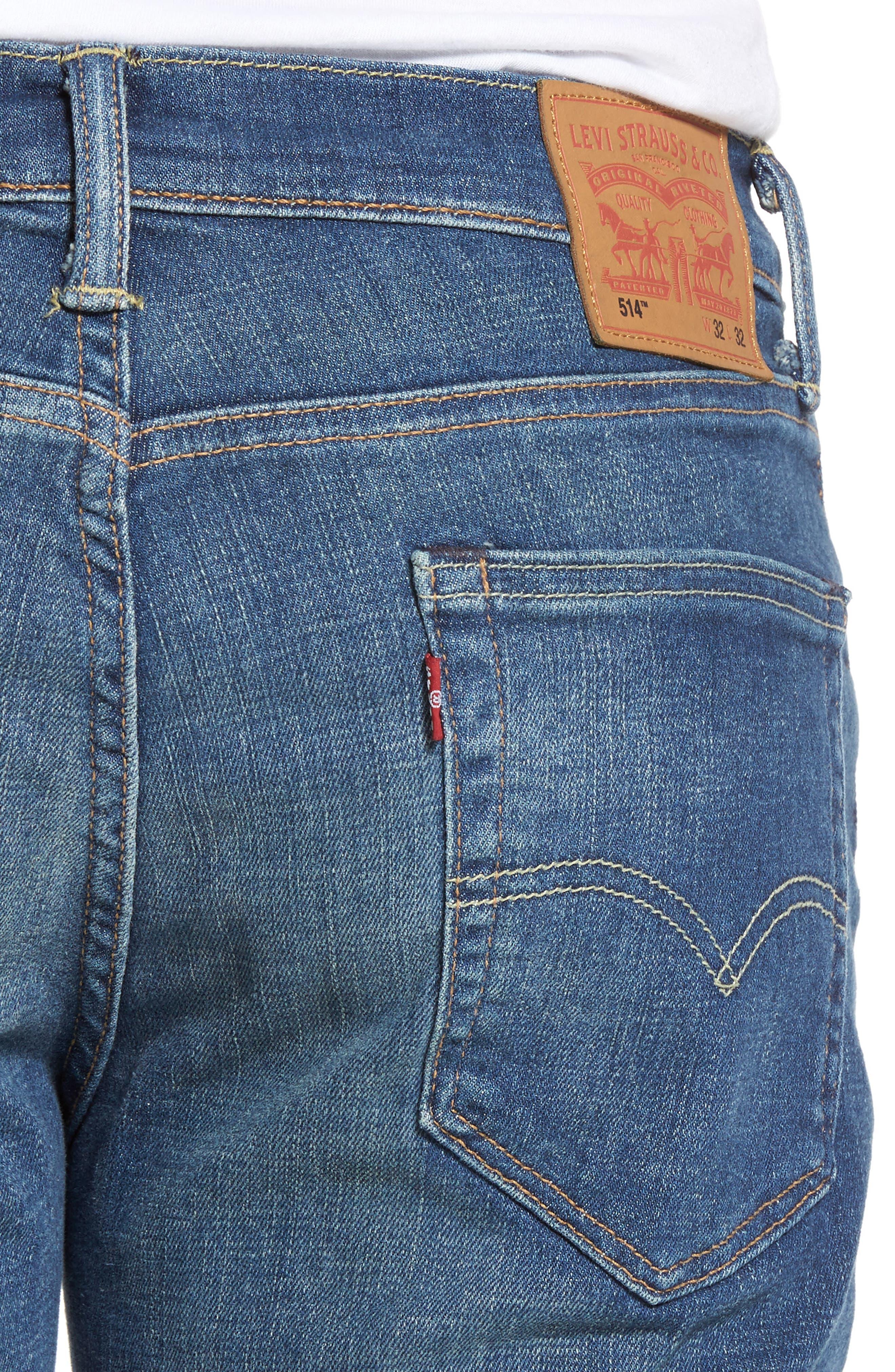 Alternate Image 4  - Levi's® 514™ Straight Leg Jeans (Yoke)