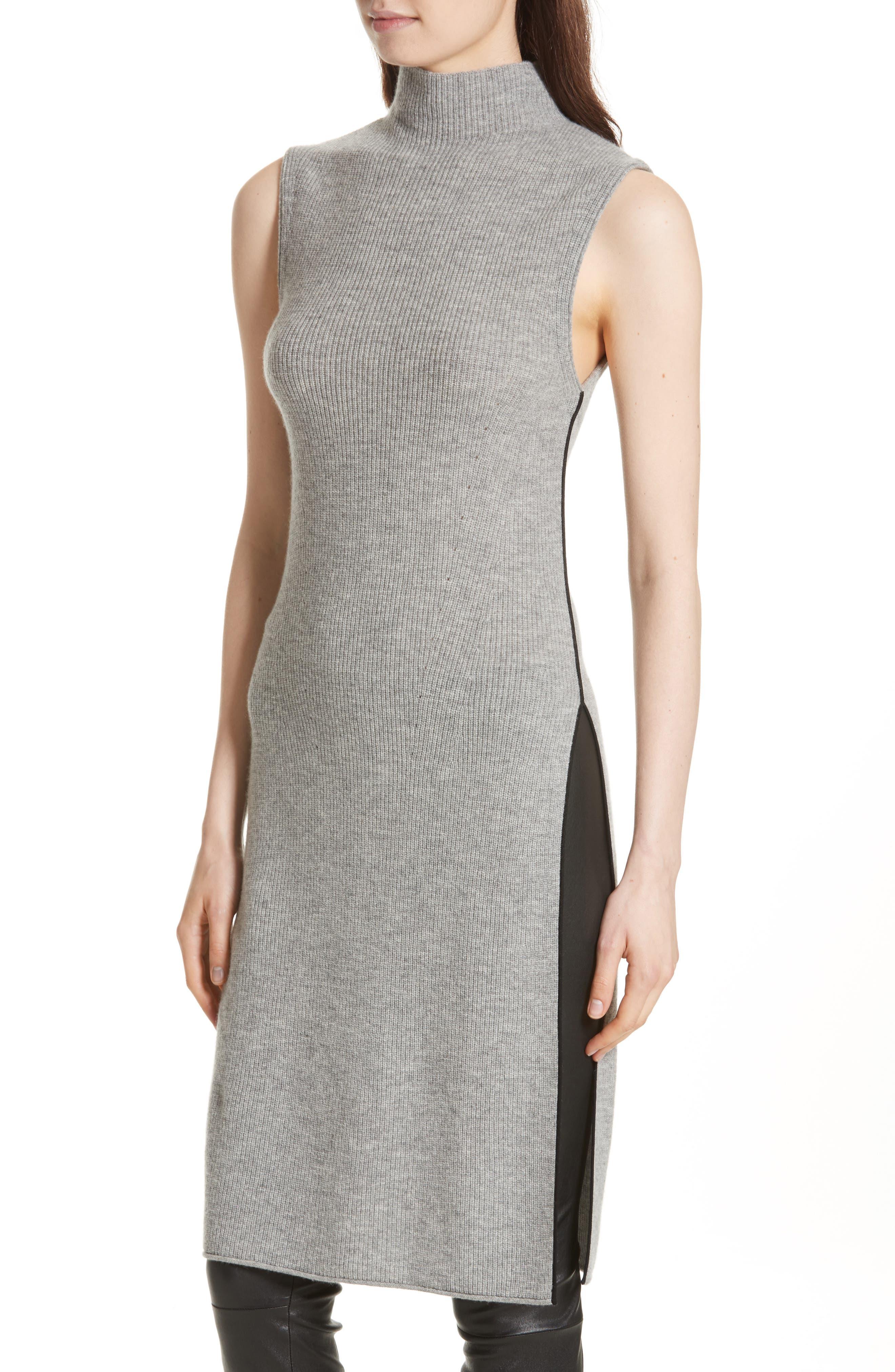 Alternate Image 4  - Alice + Olivia Stori Double Slit Sweater Dress