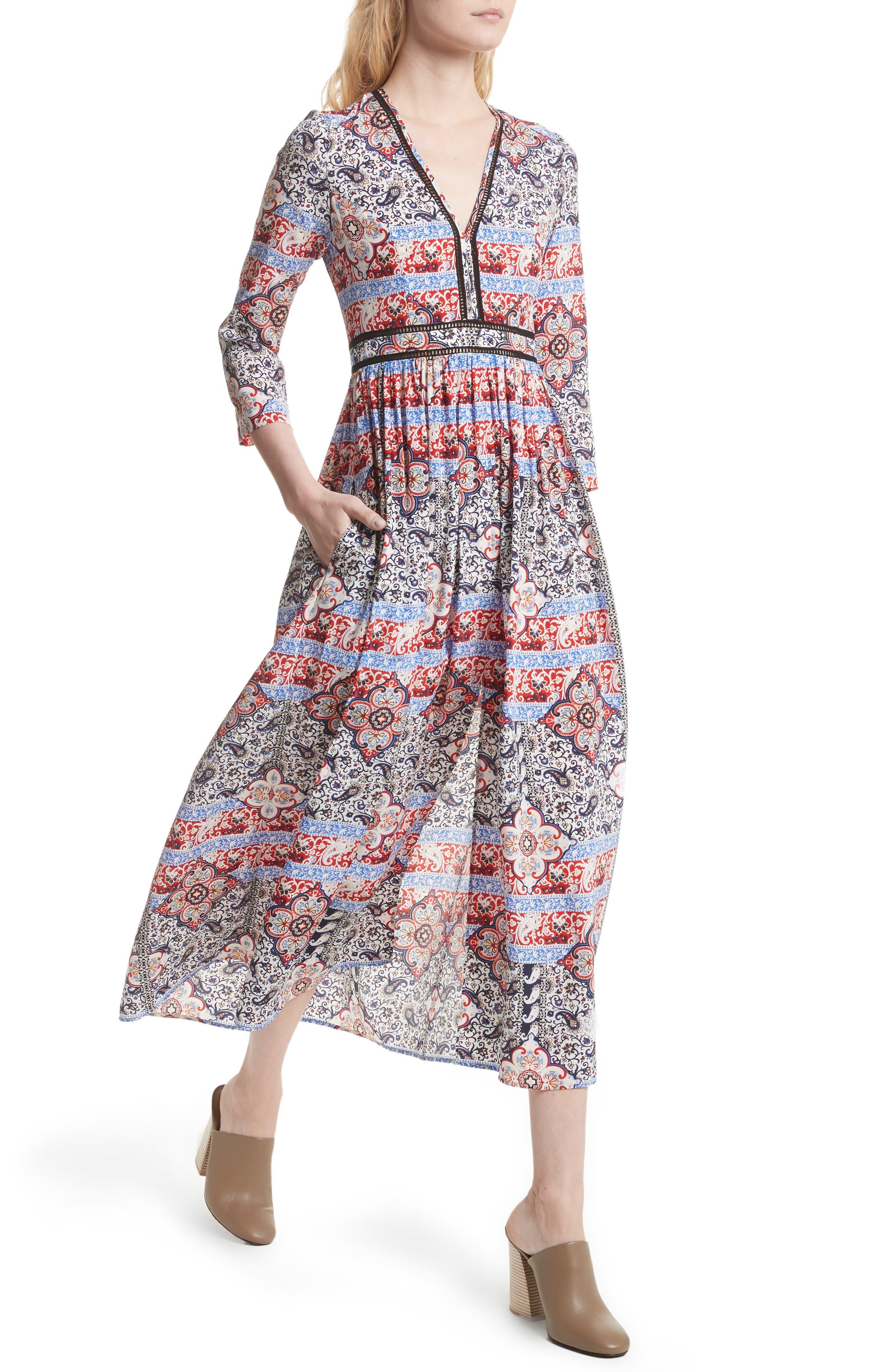 Alternate Image 2  - L'AGENCE Rosalia Print Silk Maxi Dress