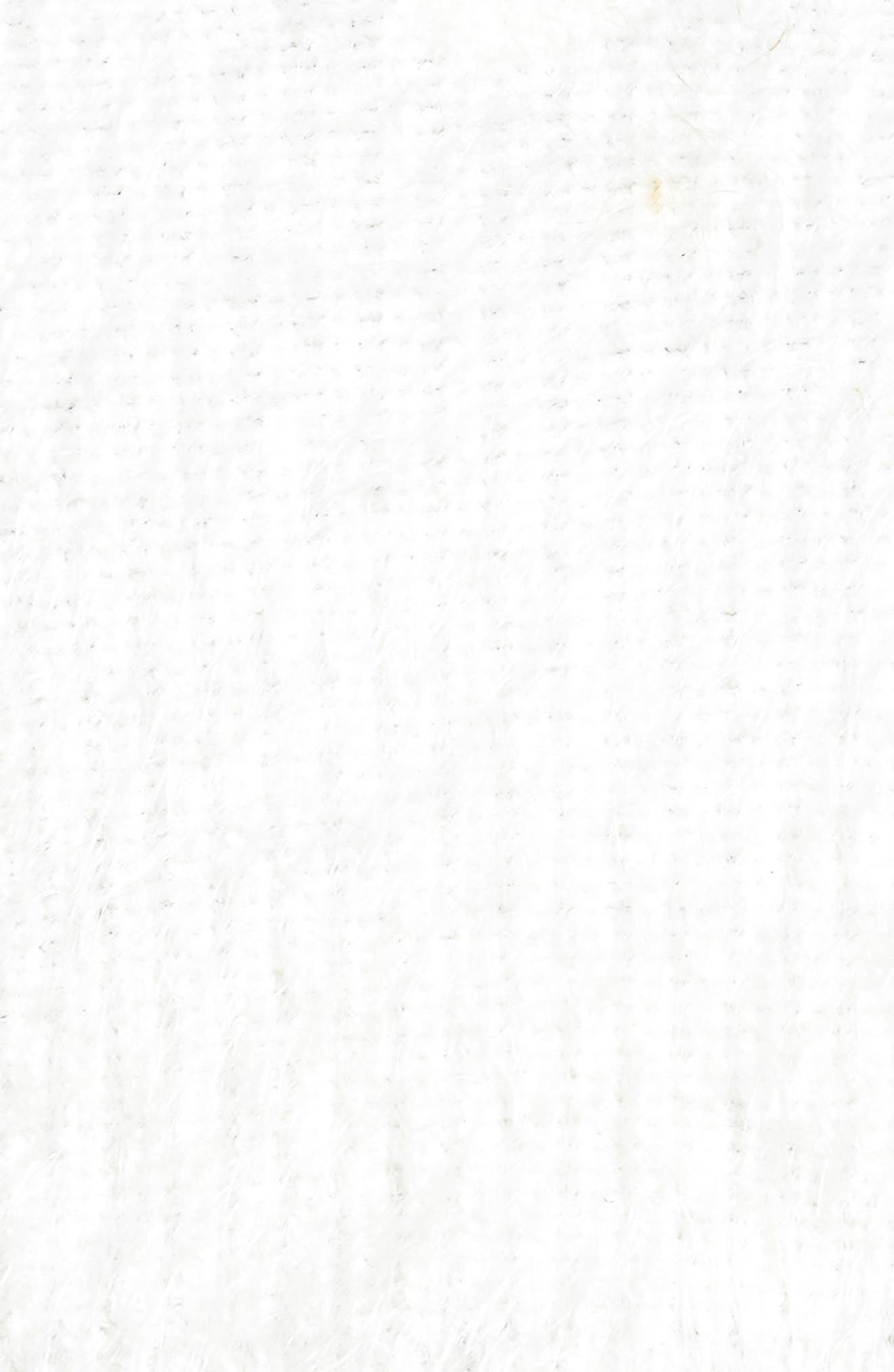 Oracle Crop Sweater,                             Alternate thumbnail 5, color,                             Ivory