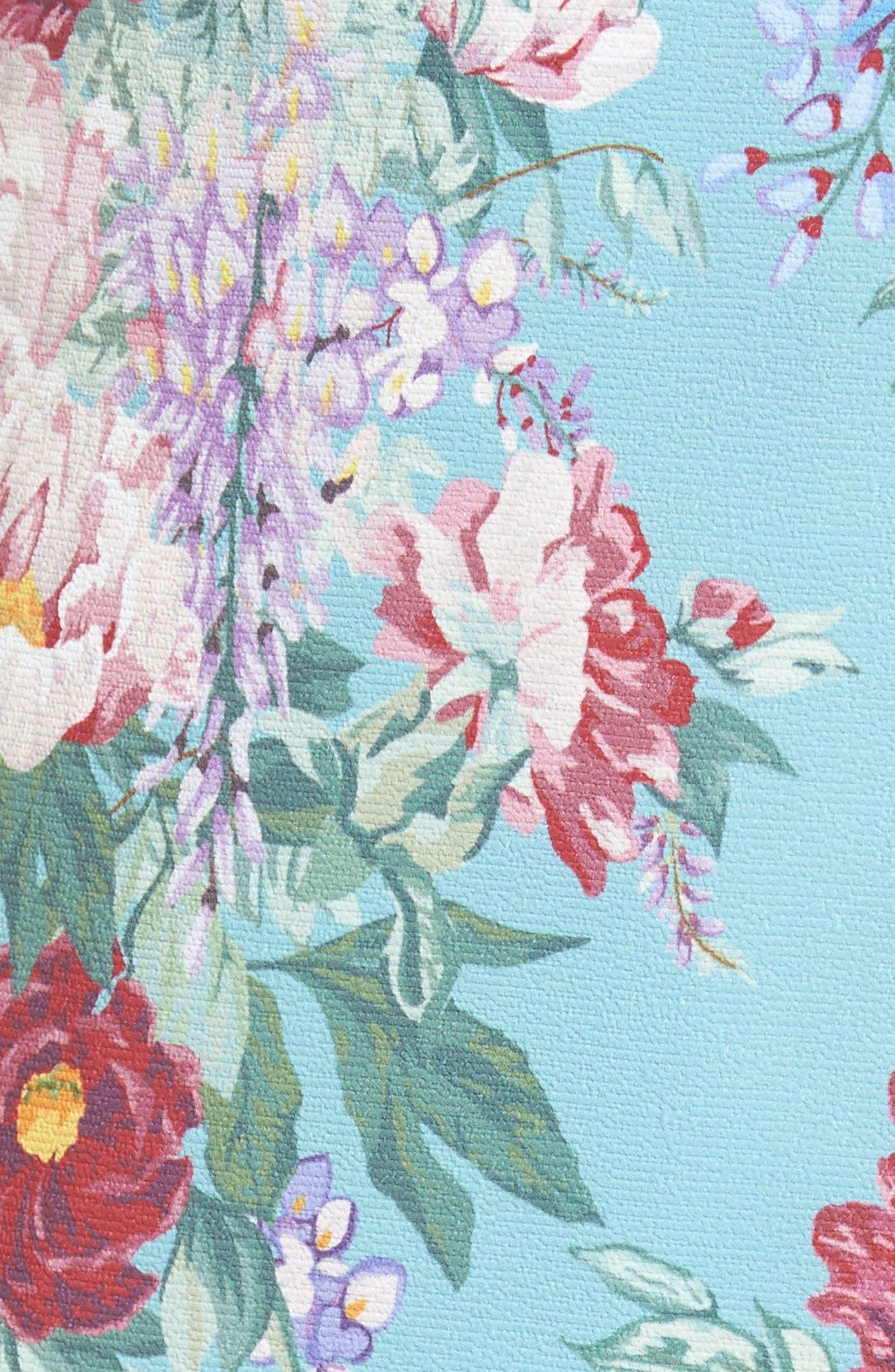 Flirt Midi Skirt,                             Alternate thumbnail 5, color,                             Darling Dolls Crinkle